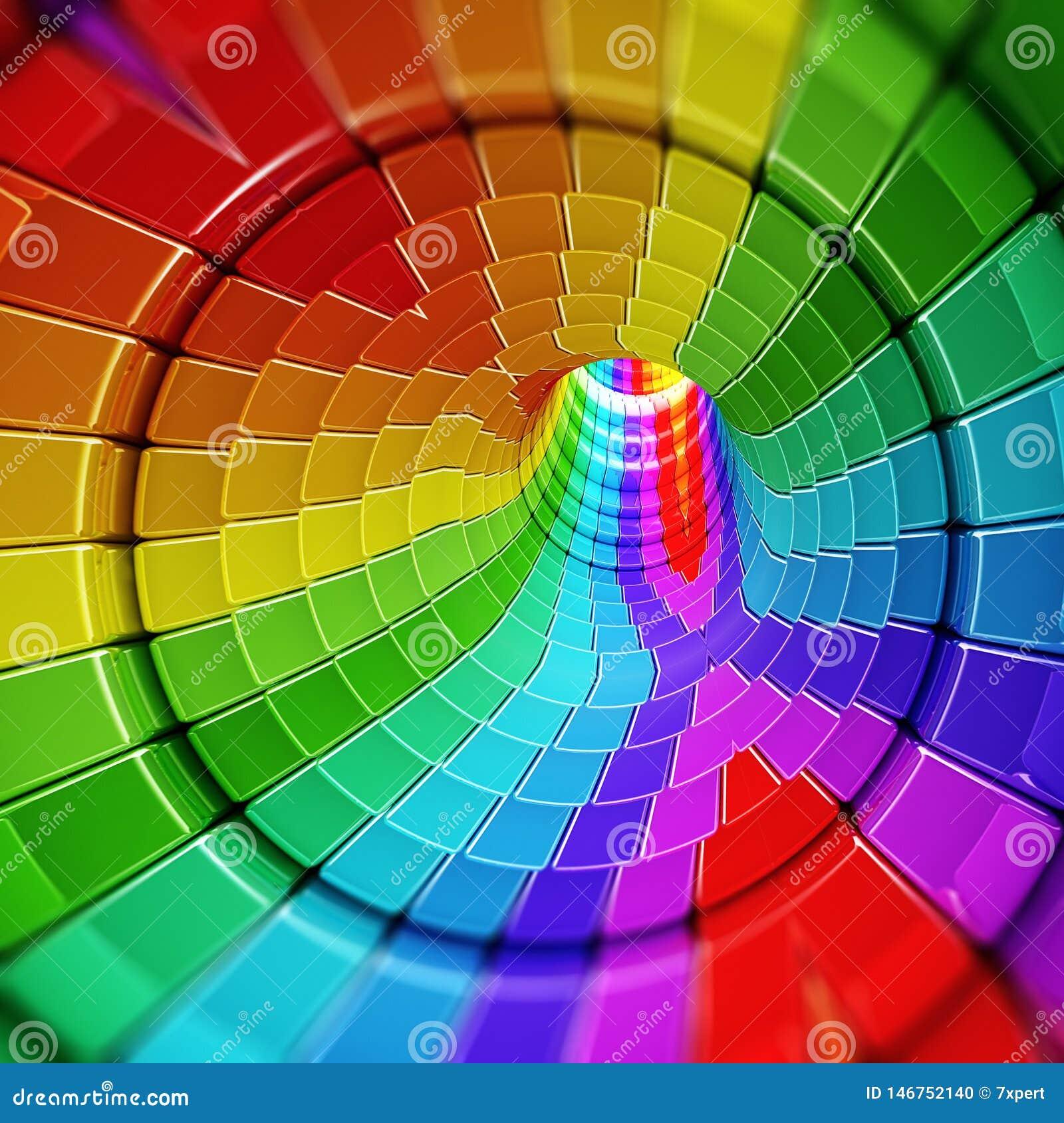Digital formy abstrakta tunel