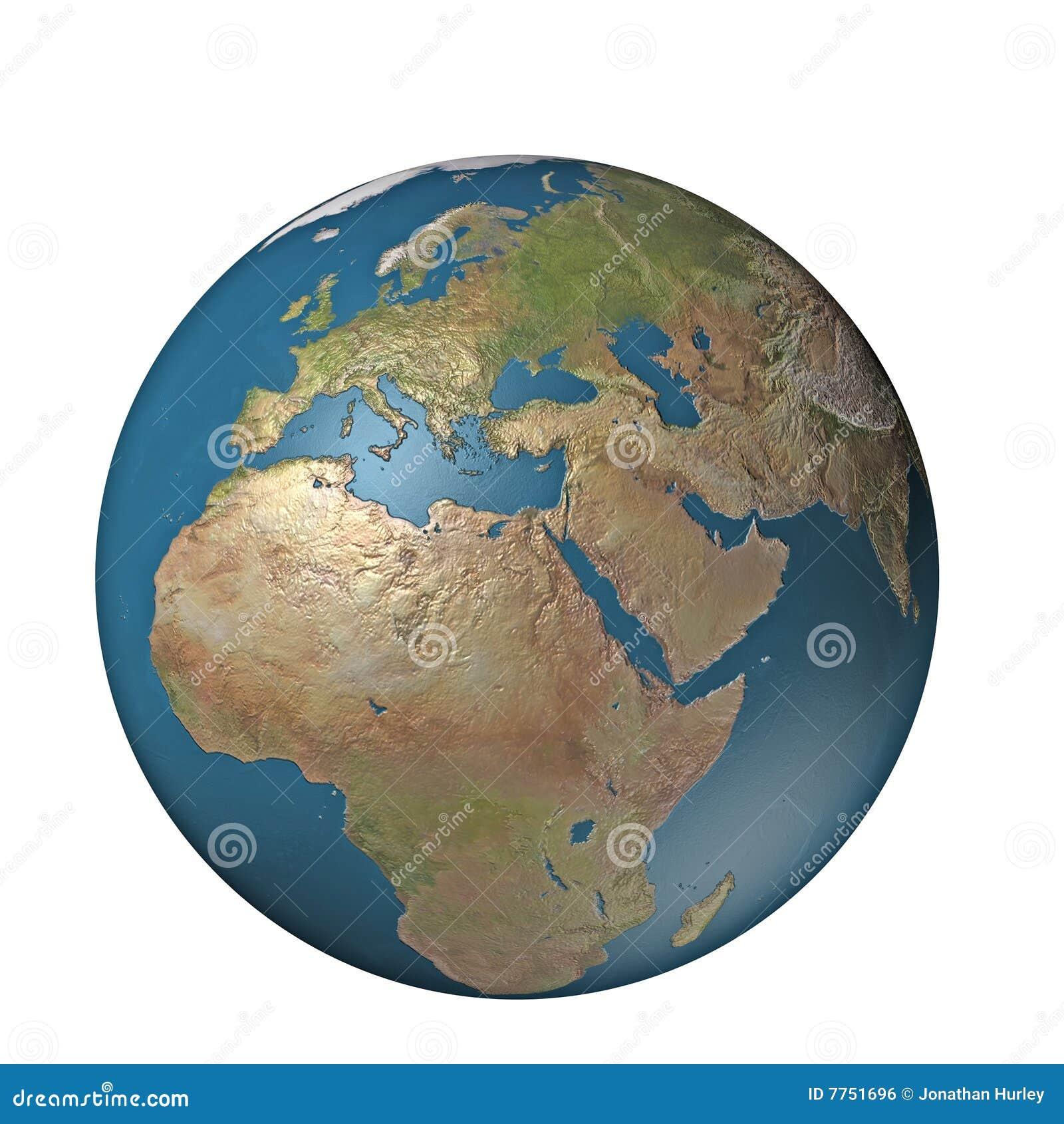 Digital globe Europe stock illustration Image of travel 7751696