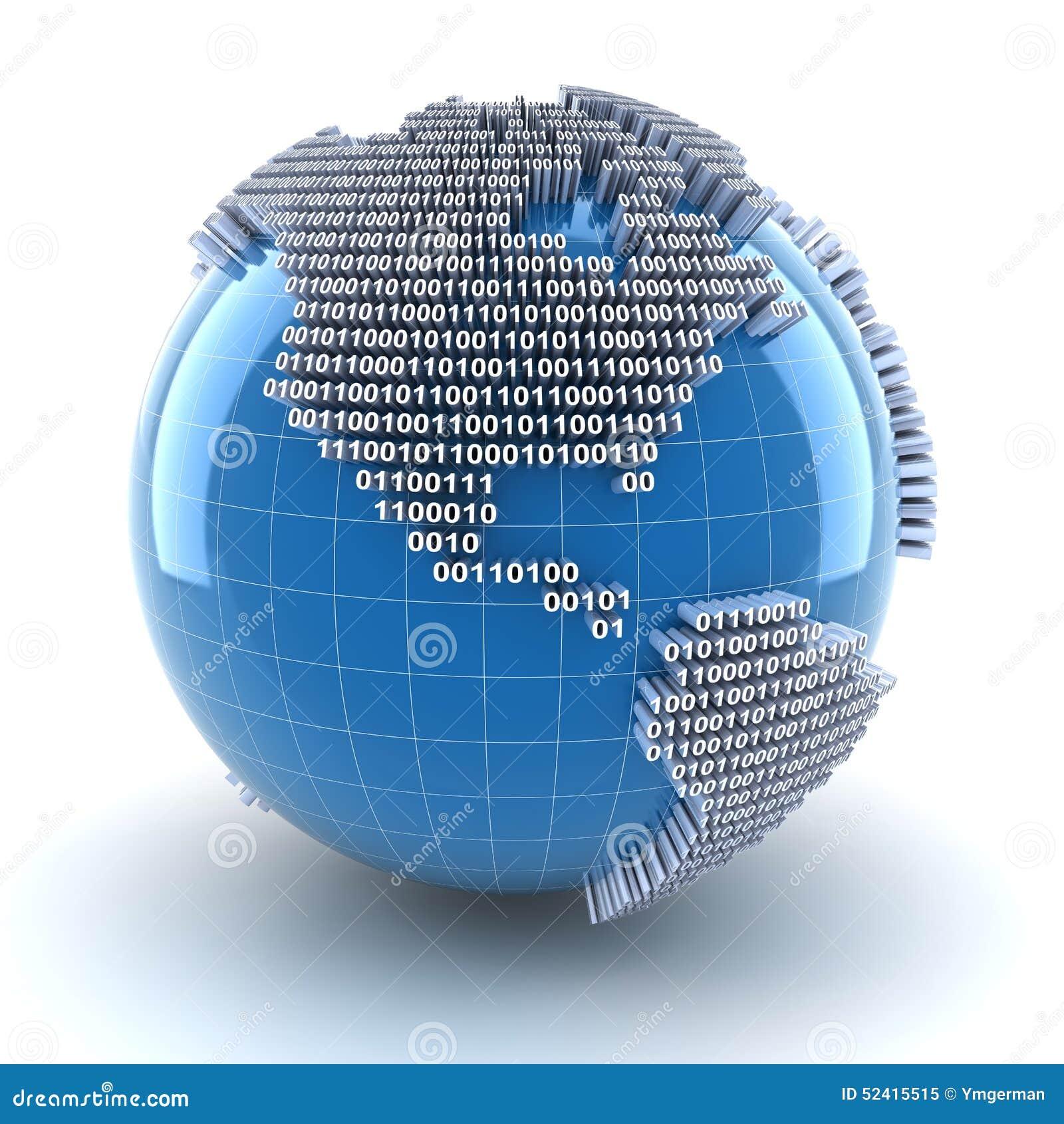 Digital Globe Stock Illustration Illustration Of Business 52415515