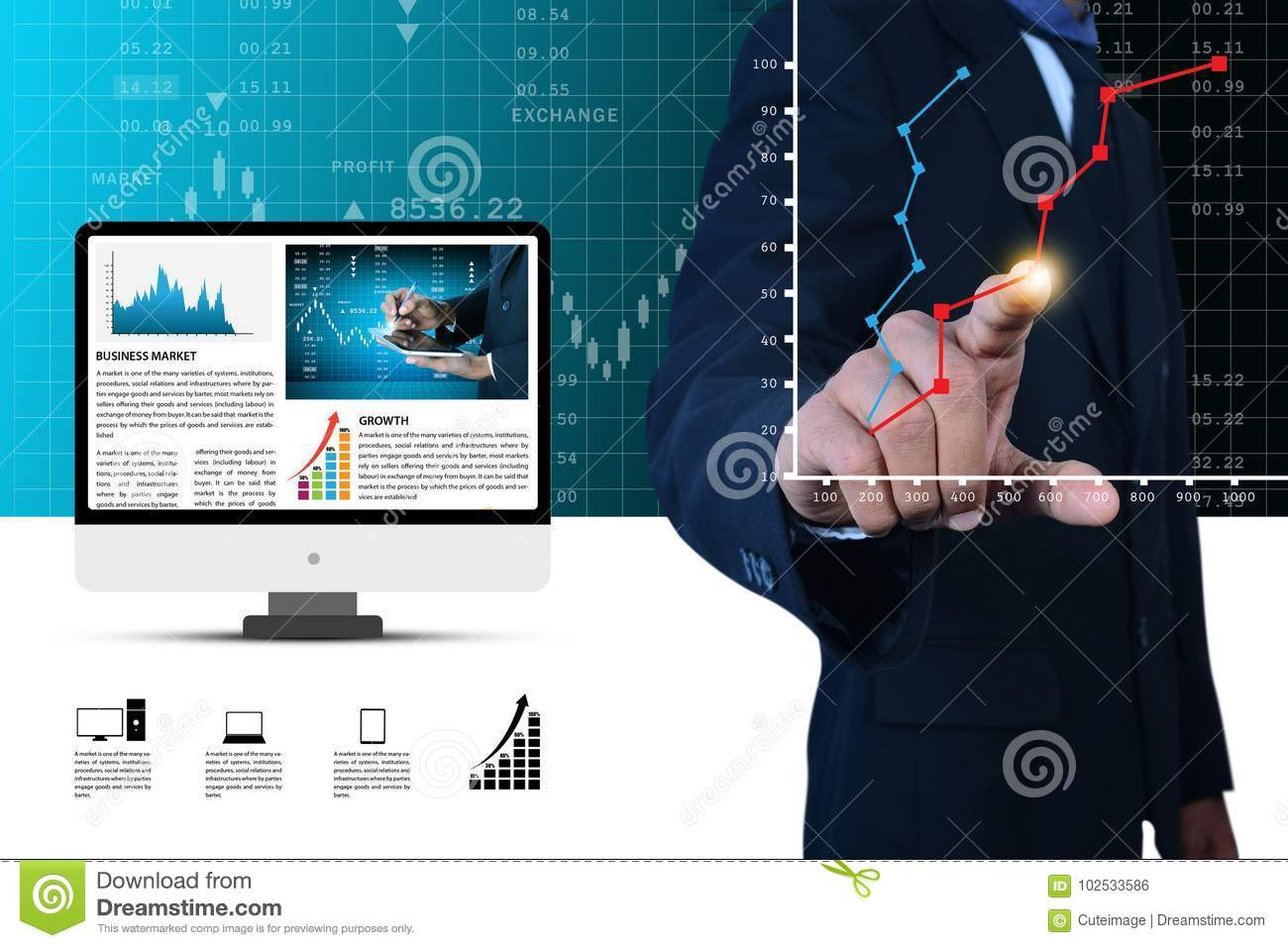 business man makes graphical presentation stock photo image of