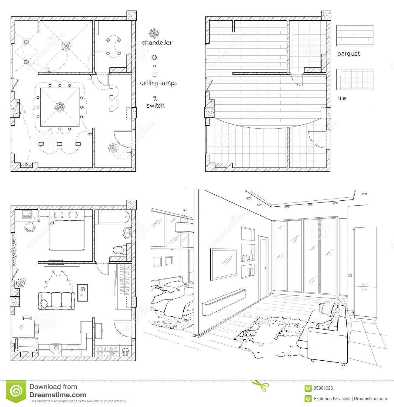 interior design floor plan sketches cafe digital illustration floor plan and room sketch illustration floor plan and room sketch stock