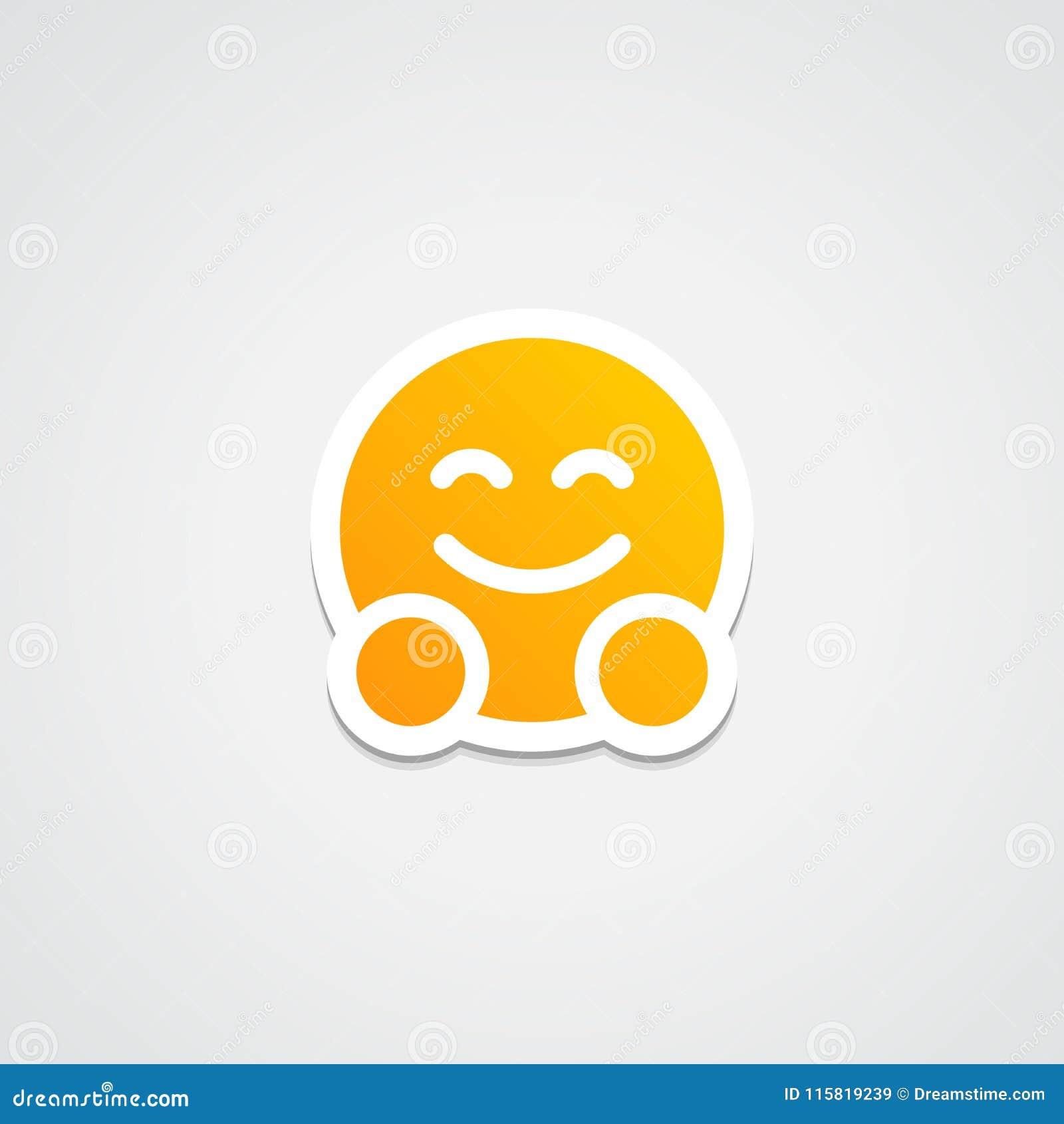Hug Emoji Sticker Icon Stock Vector Illustration Of Sticker 115819239