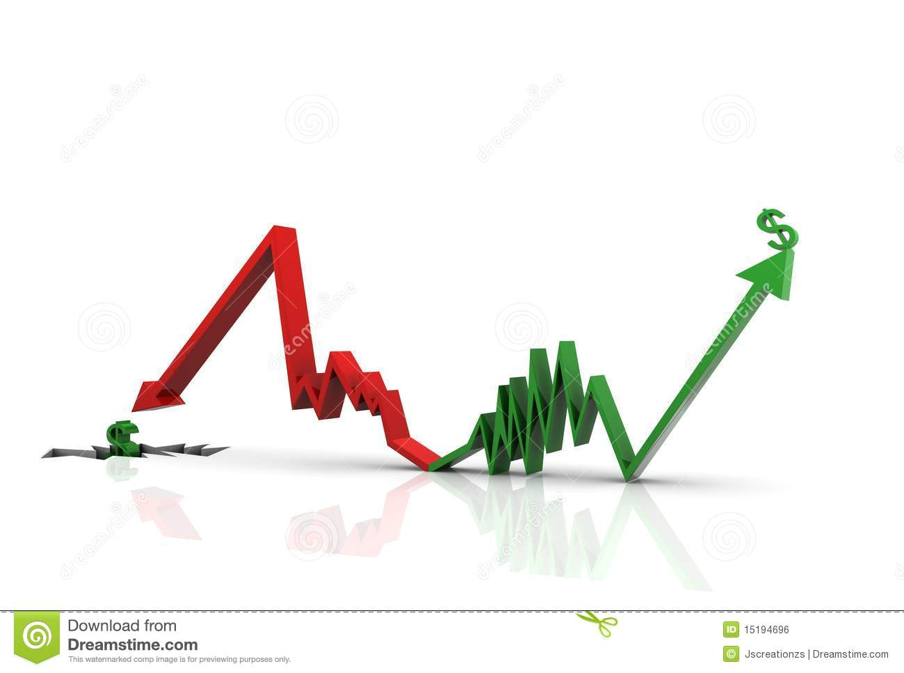 Digital Illustration Of Inflation And Recession Gr Royalty