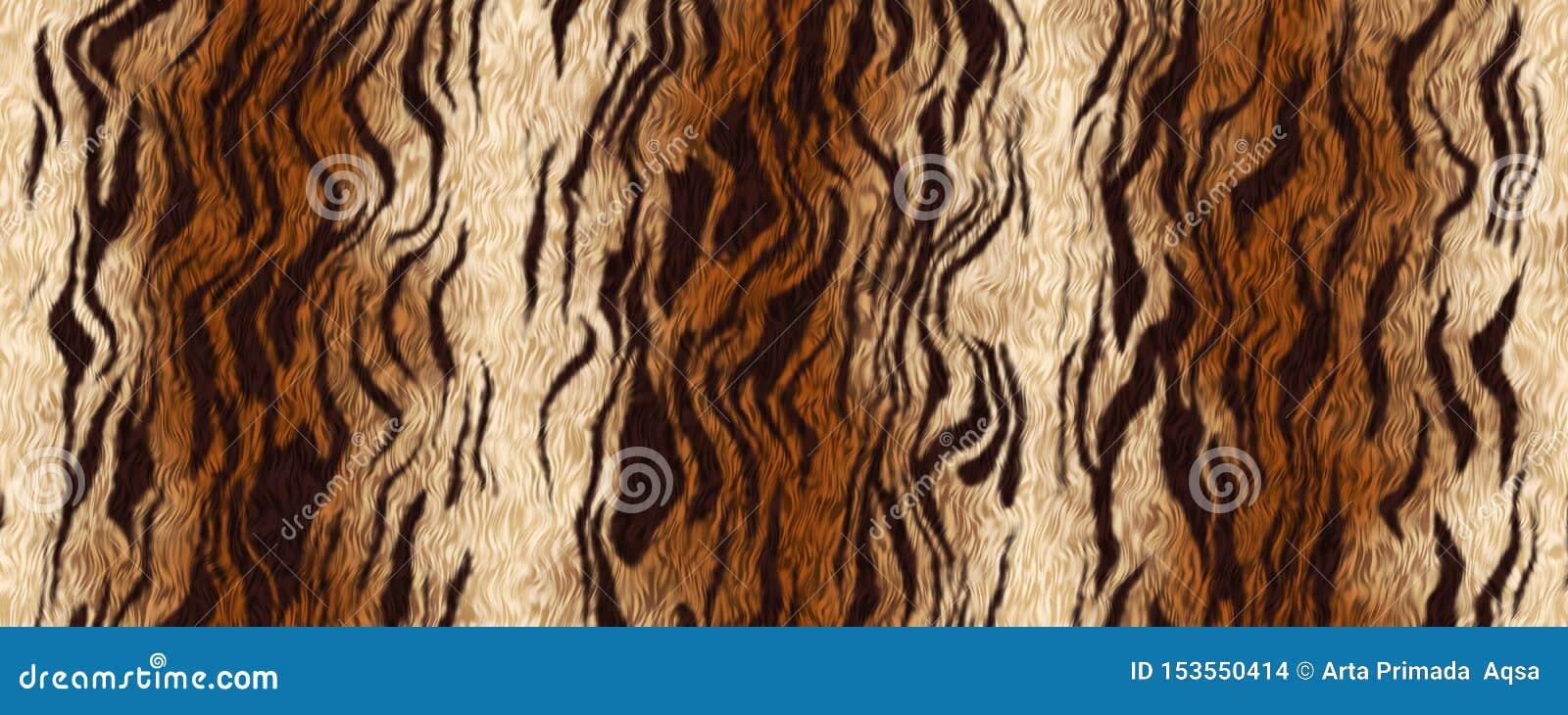 Digital illustration tiger fur material background