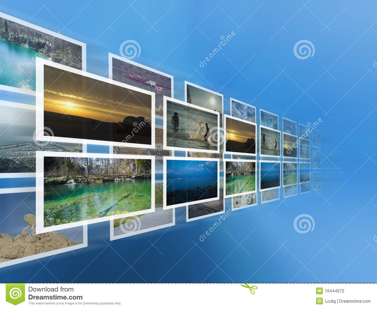 Digital images on the virtual screen
