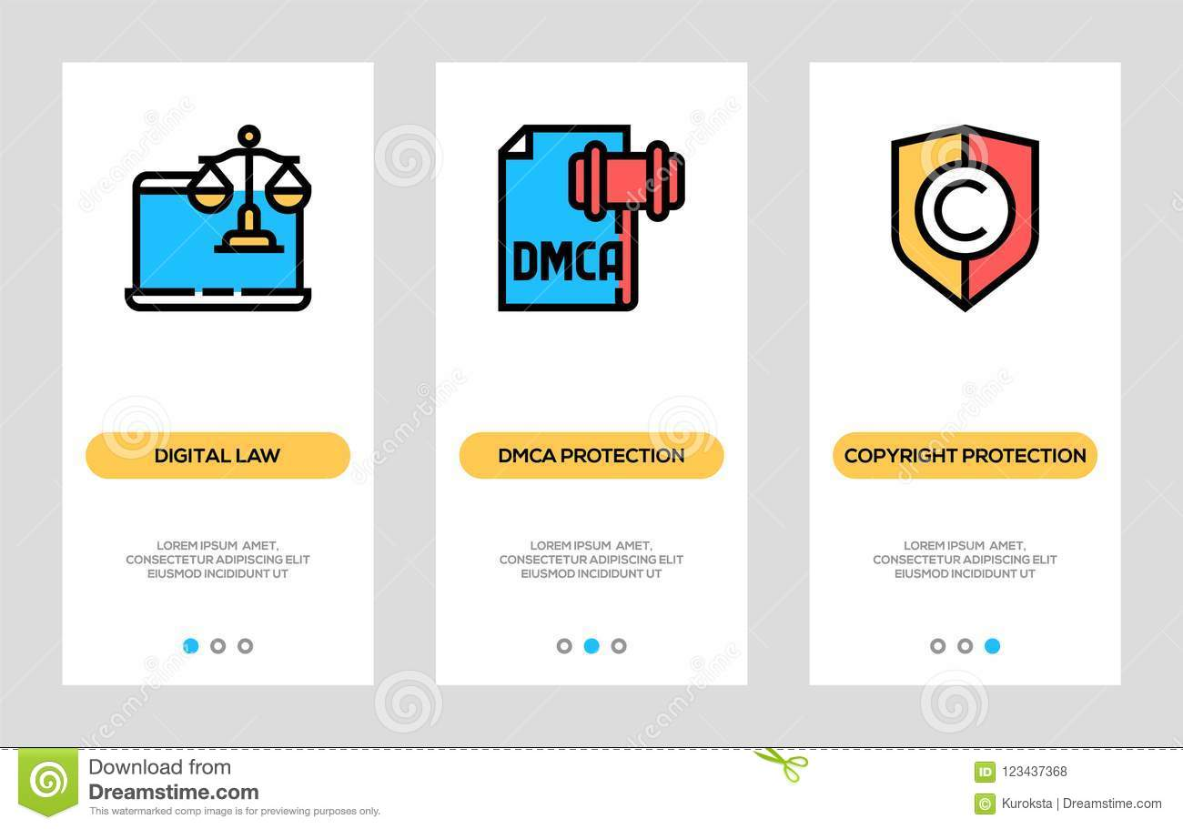 Digital Law, Dmca Protection, Copyright Protection Vertical Cards