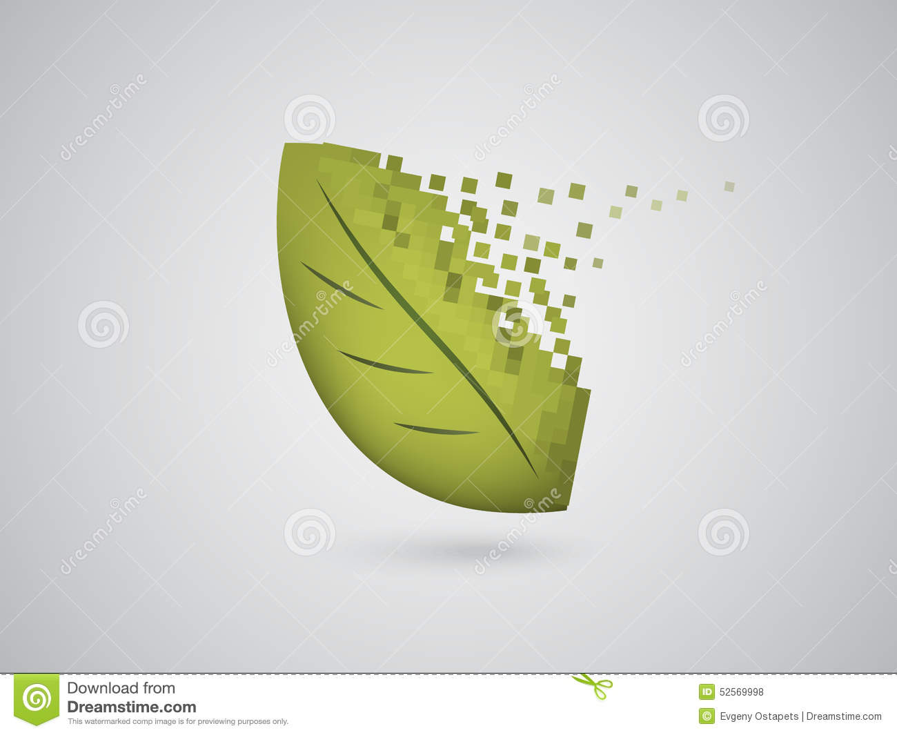 Digital Leaf Collapsing Stock Vector Image 52569998