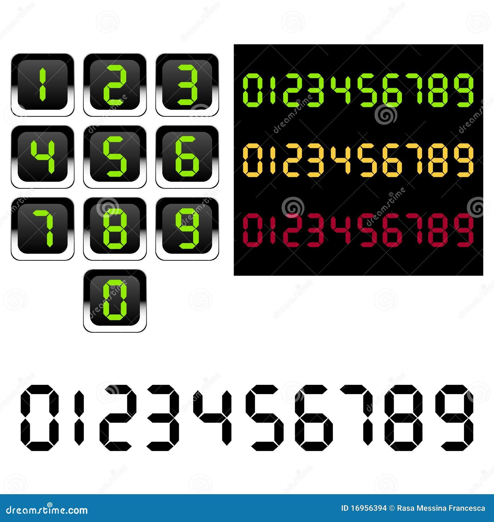 slot machine numbers font