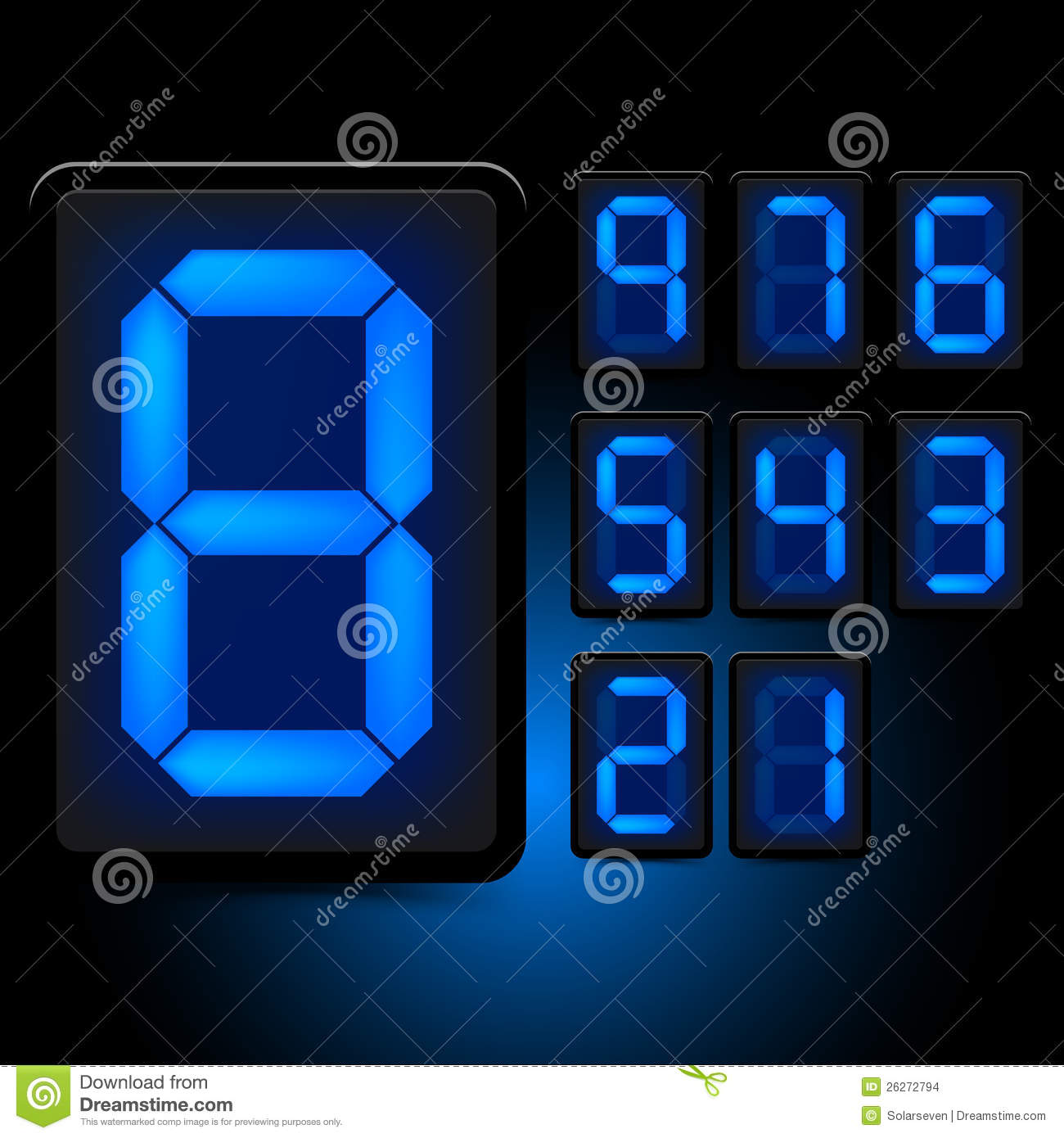 Digital Led Numbers Stock Images Image 26272794