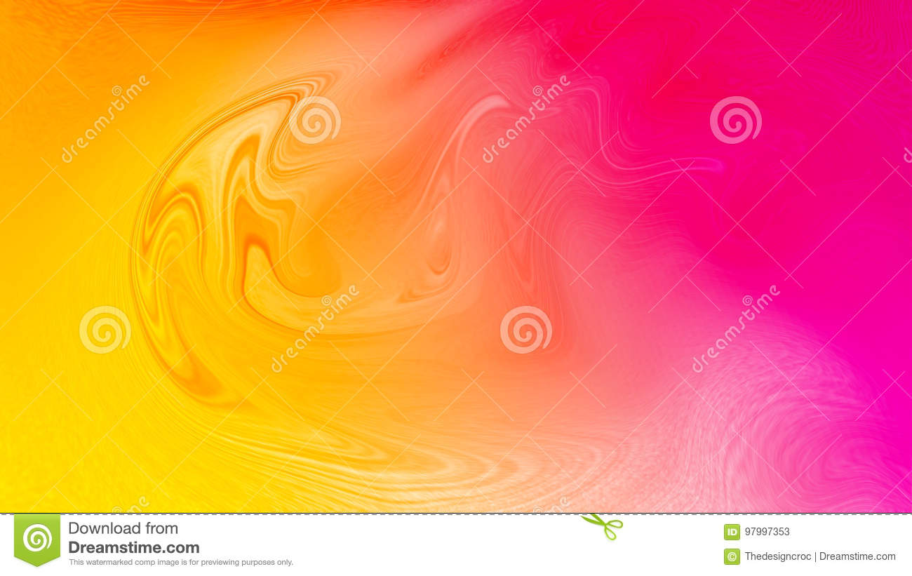 Digital satin abstract pink yellow wallpaper. Melting, flowing effect digital background.