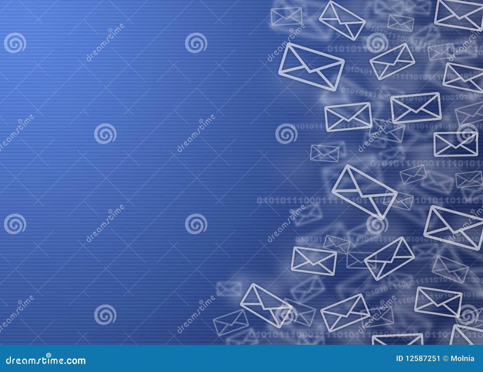 Digital Mail Background Stock Image Image 12587251