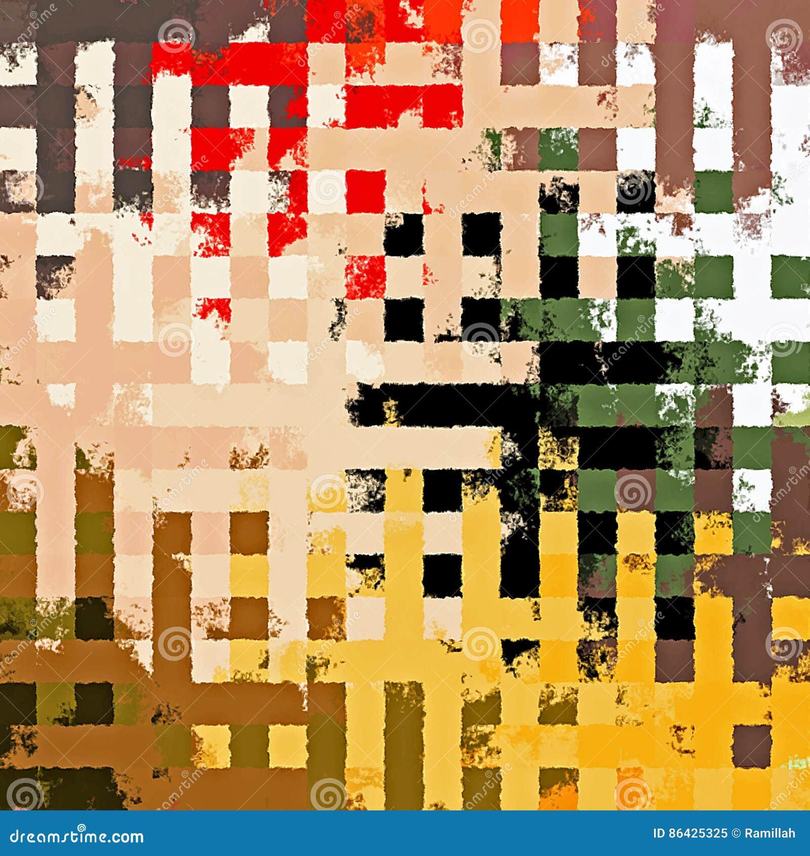 download digital malerei schner abstrakter bunter chaotischer rechteckiger puzzle muster hintergrund stock - Puzzle Muster