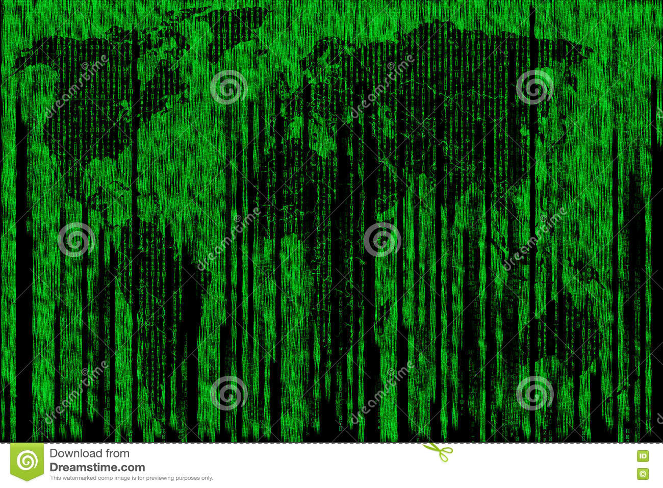Digital Map Of The World.Digital Map Of The World Matrix Stock Photo Image Of Information