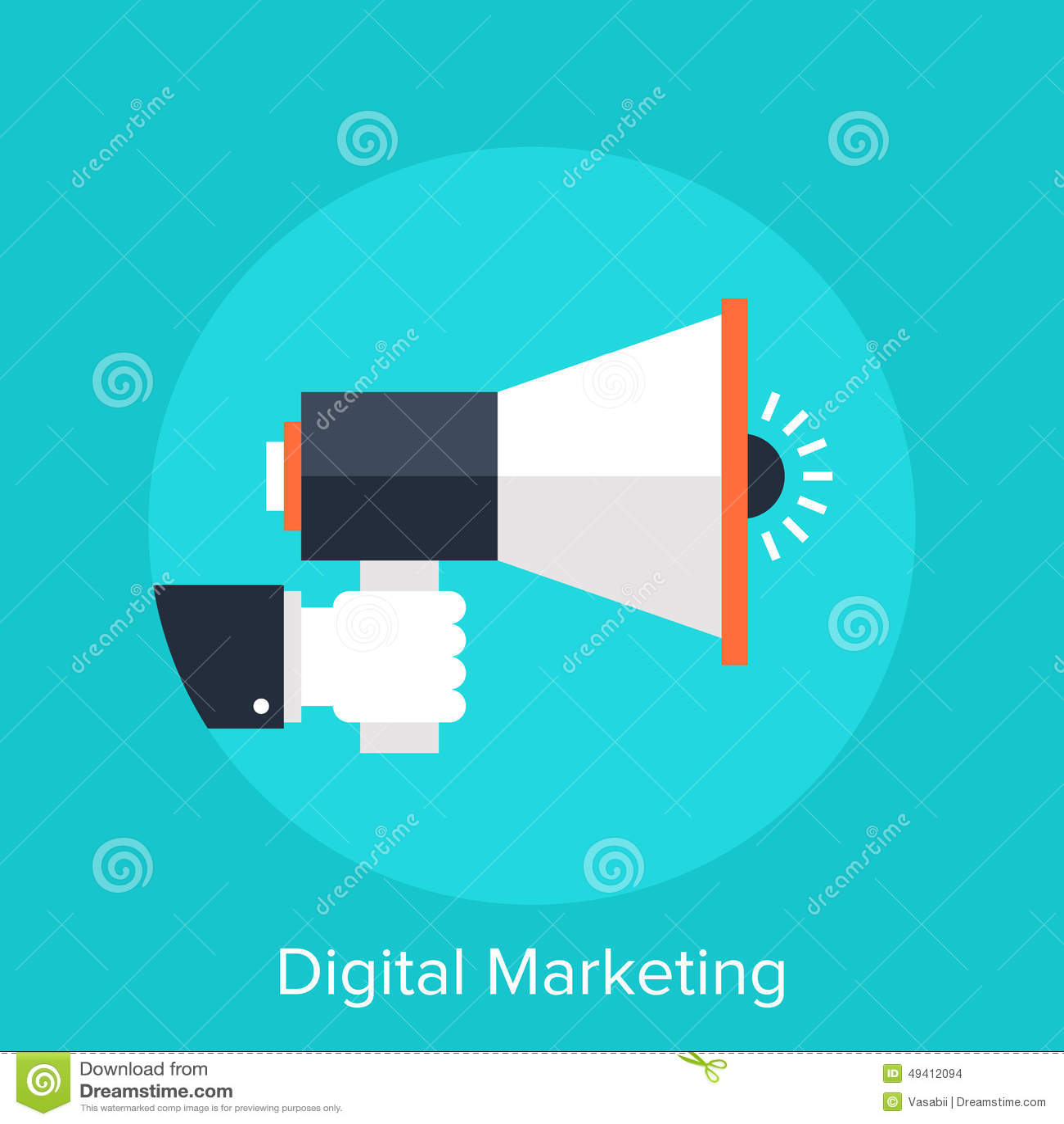 Download Digital-Marketing vektor abbildung. Illustration von media - 49412094