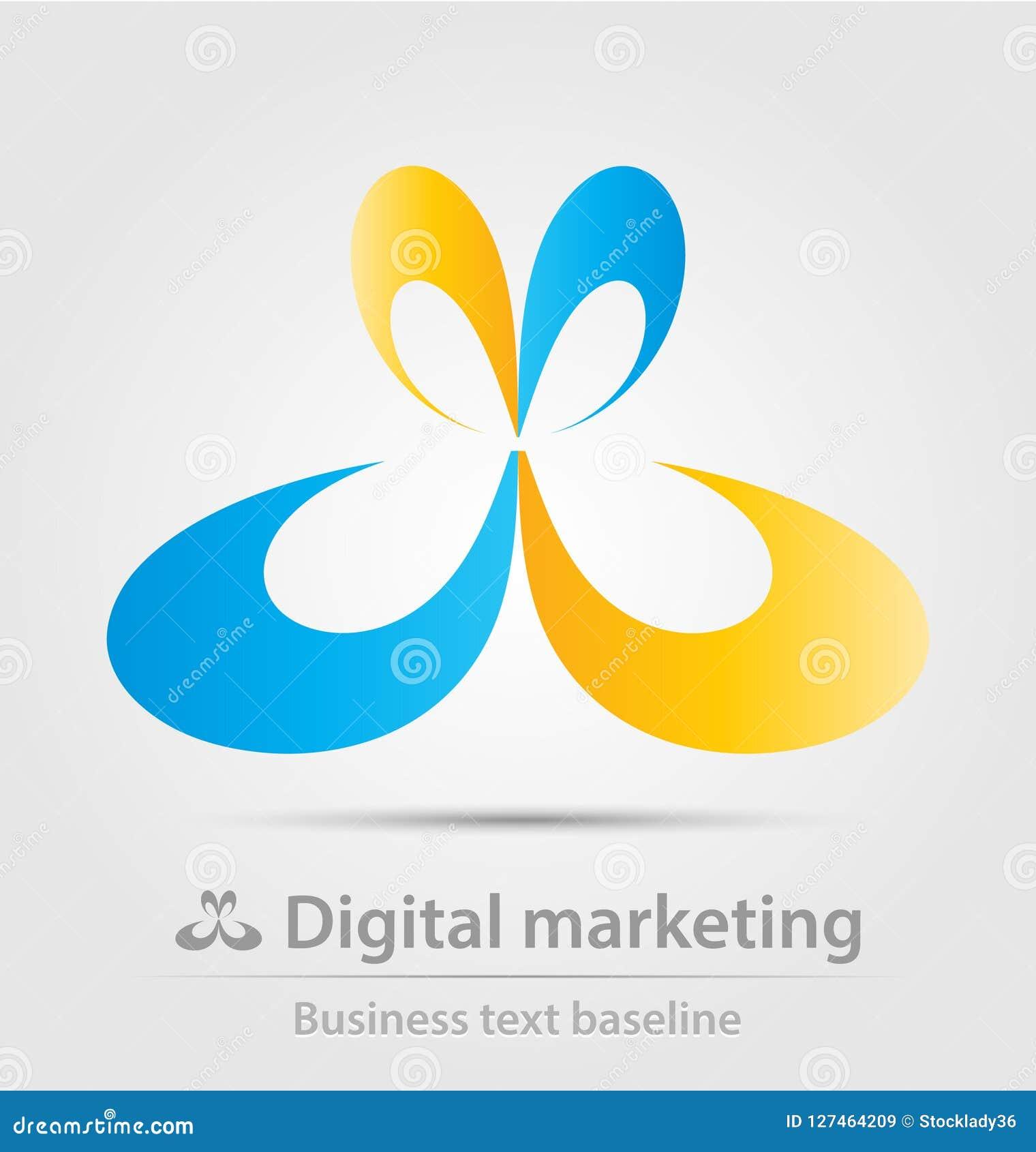 digital marketing business vector logo icon stock vector illustration of geometric logoicon 127464209 https www dreamstime com digital marketing business icon creative design image127464209