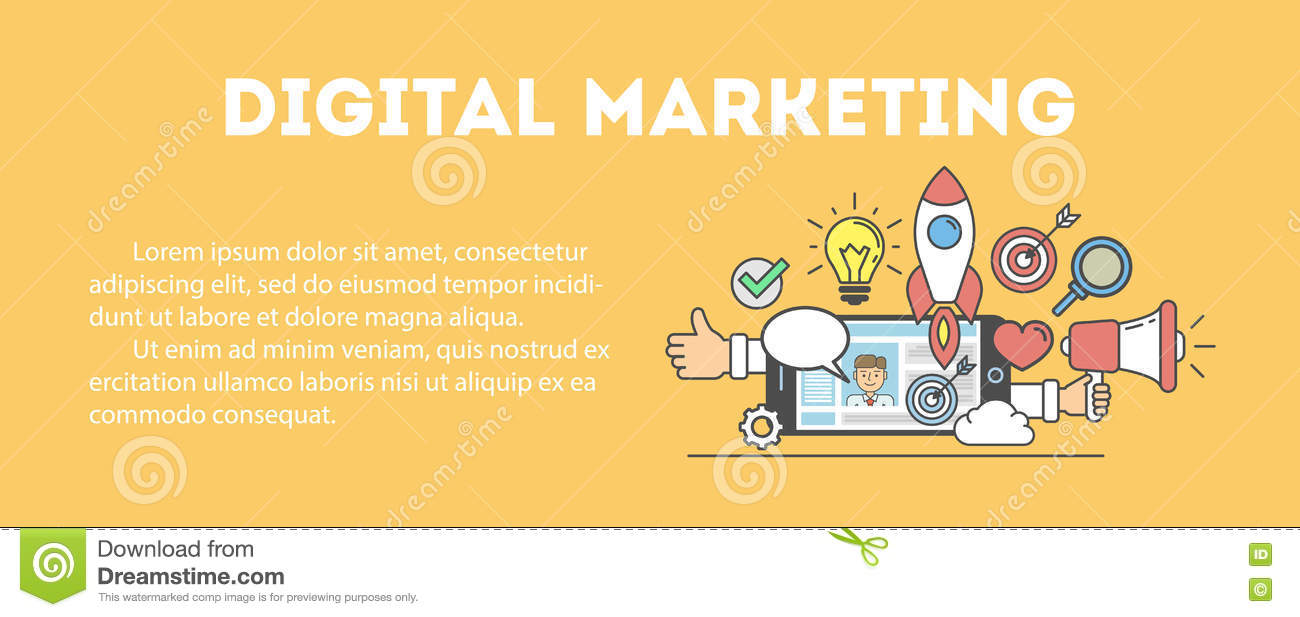 Digital marketing concept.