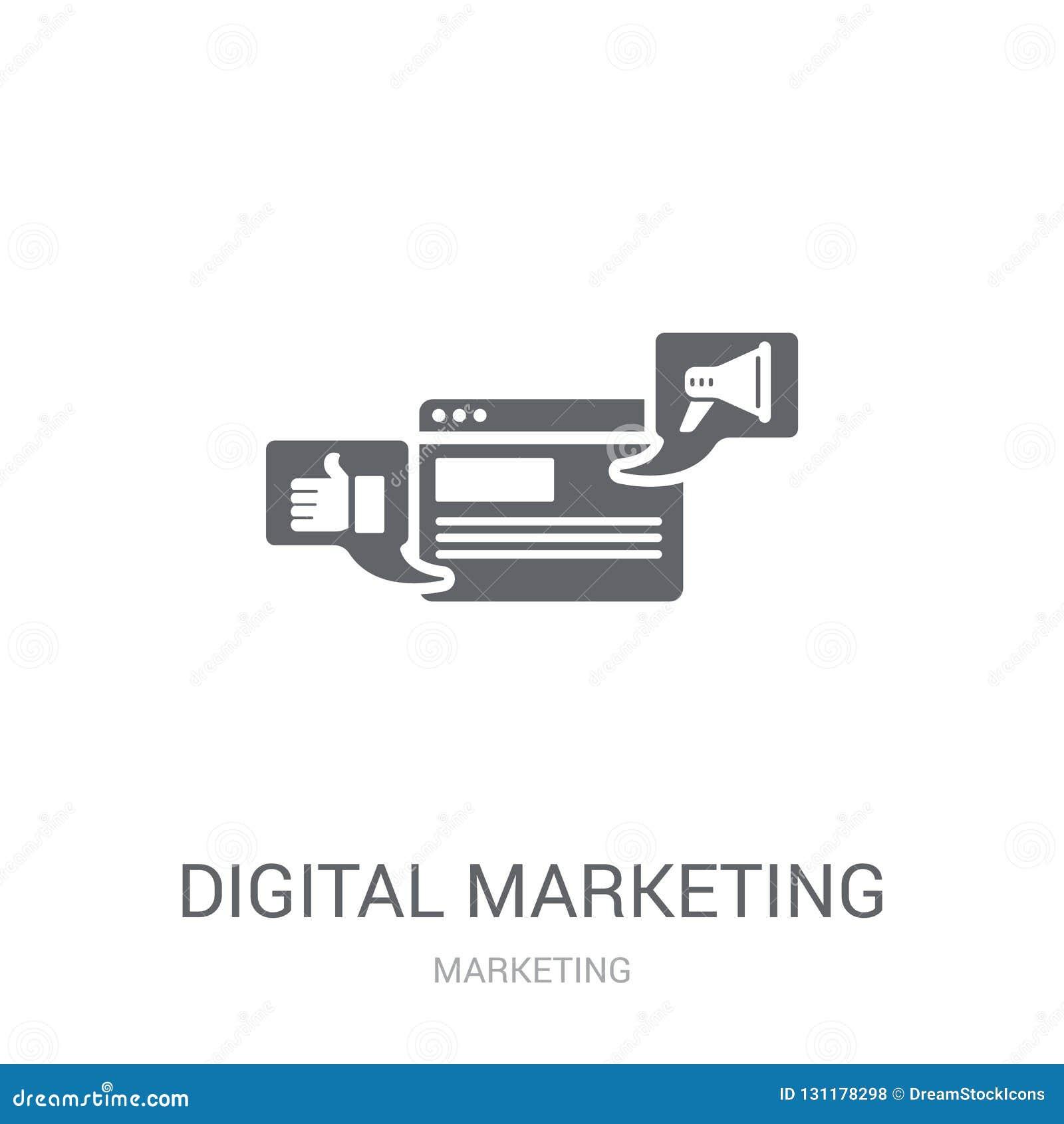 Digital Marketing Icon. Trendy Digital Marketing Logo ...