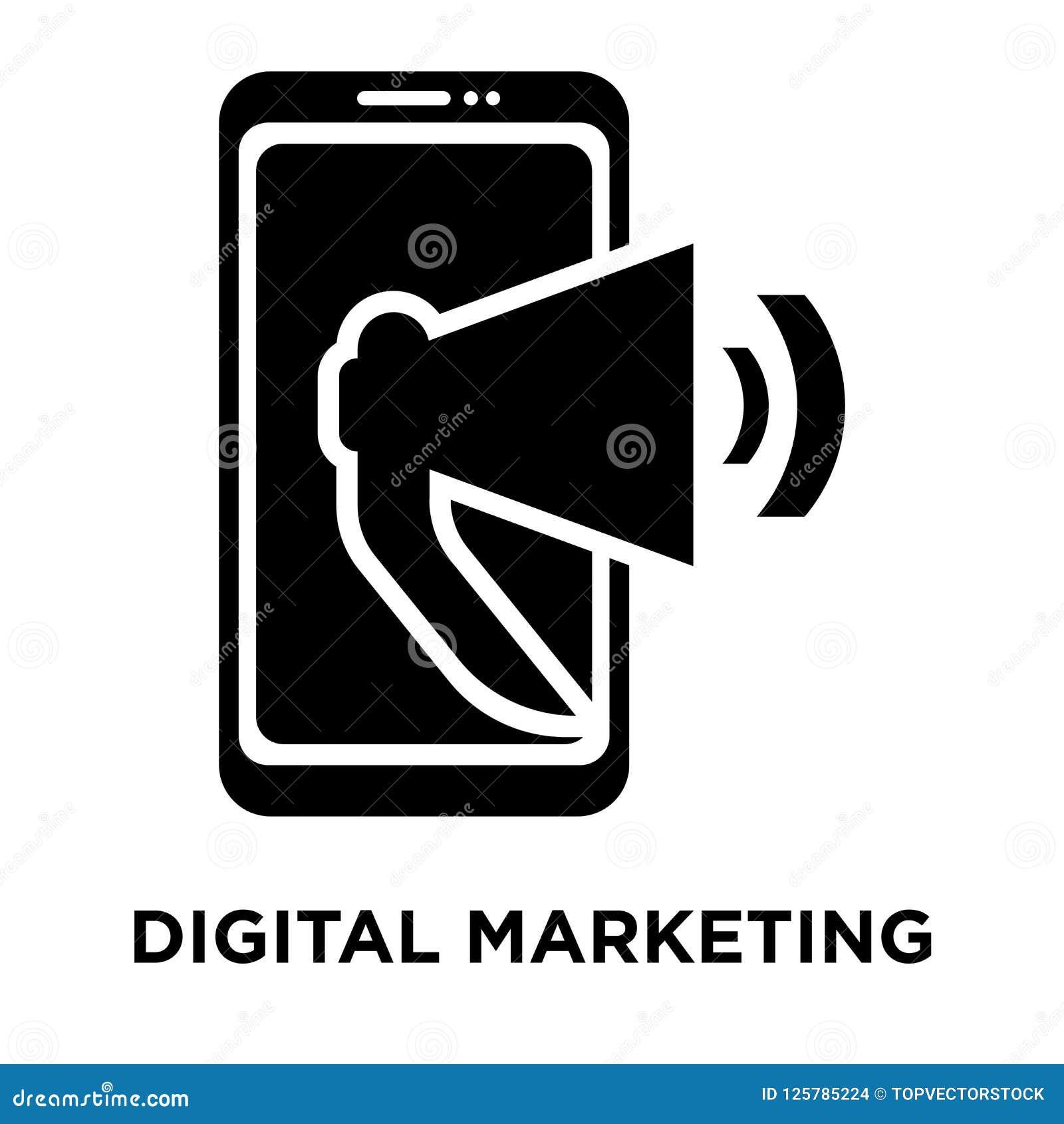 Digital Marketing Icon Vector Isolated On White Background ...