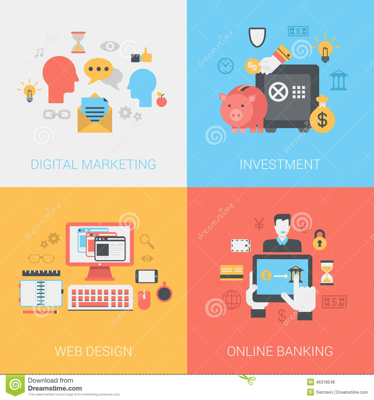 Digital marketing investments web design online banking Create a blueprint online