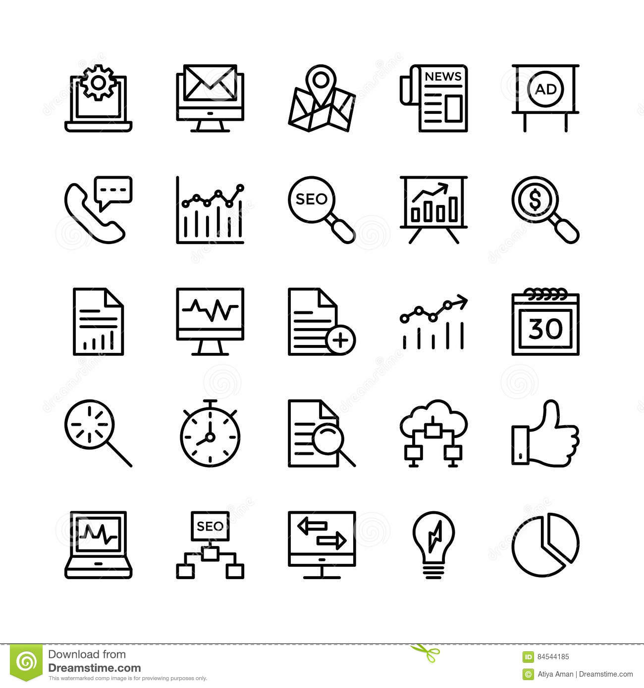 Digital Marketing Line Vector Icons 5