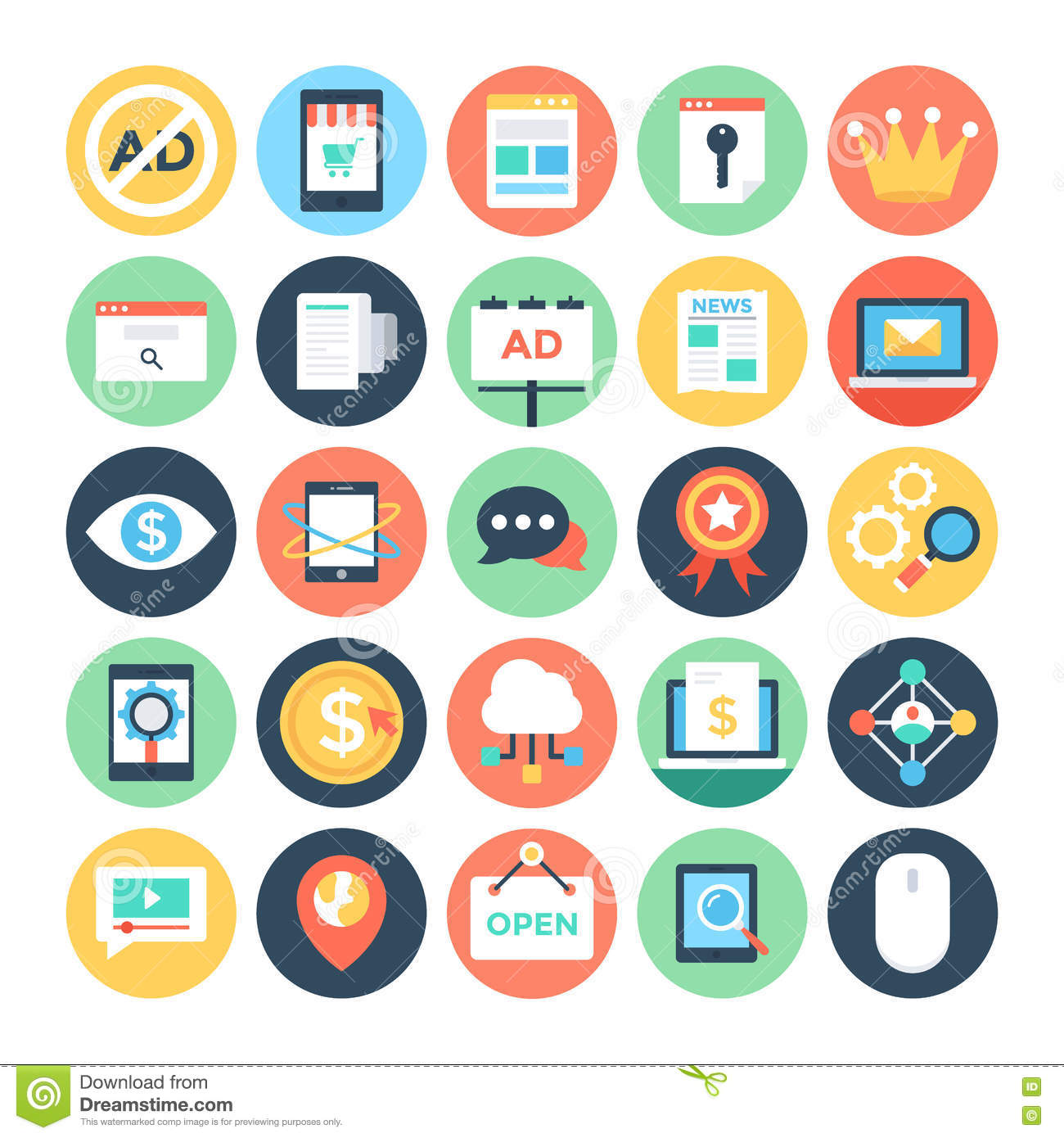 Digital Marketing Vector Icons 2 Stock Illustration