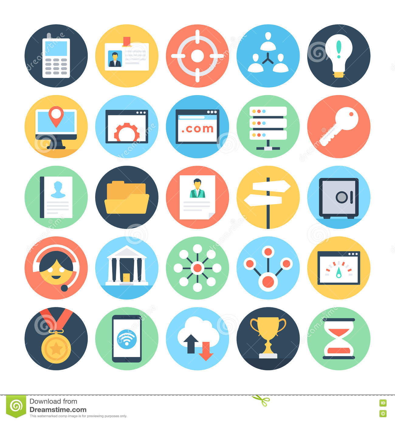 digital marketing vector icons 5 stock illustration illustration of hierarchy navigation 72929386 dreamstime com