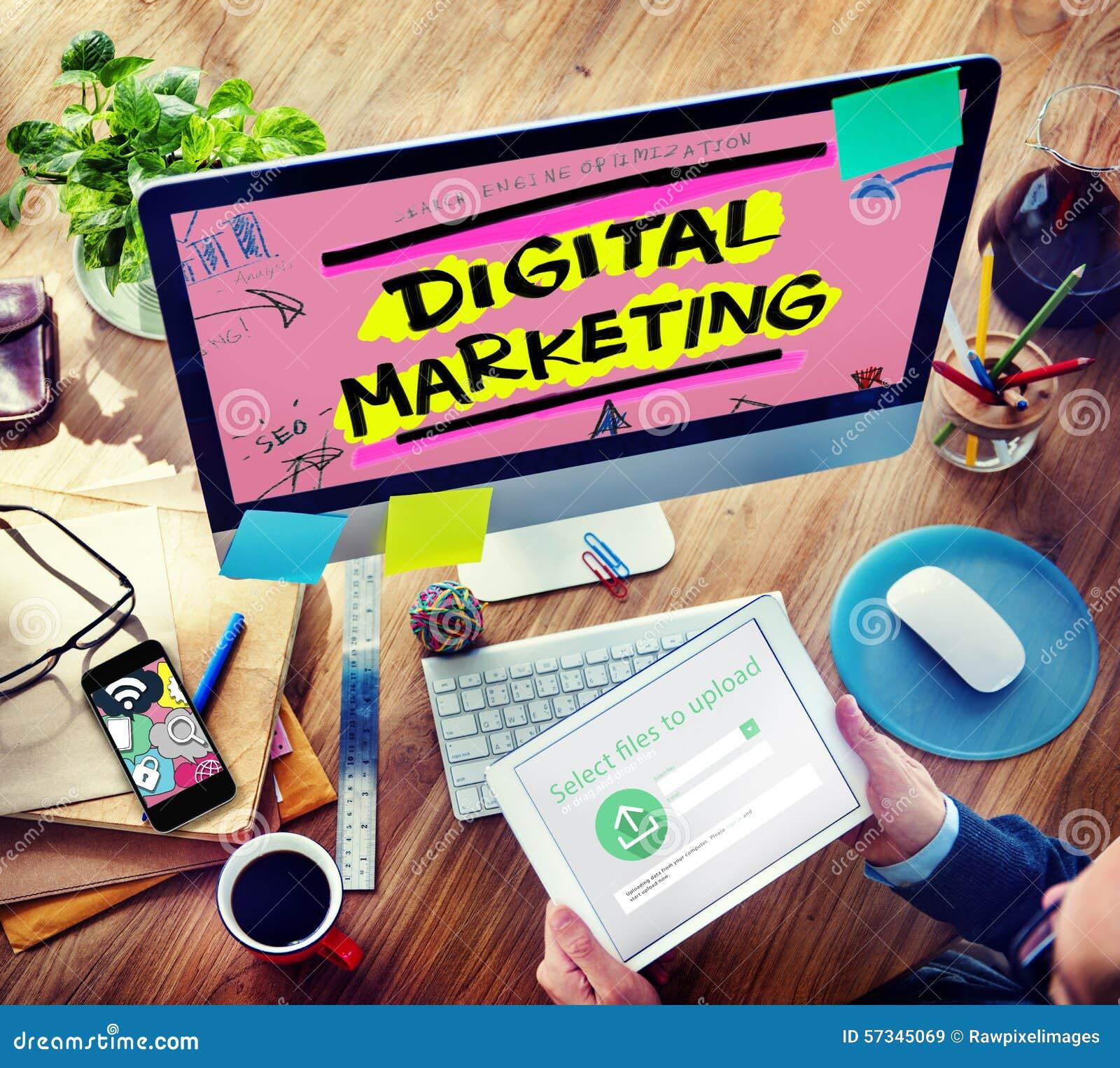 Digital marknadsföring som brännmärker strategi online-massmediabegrepp