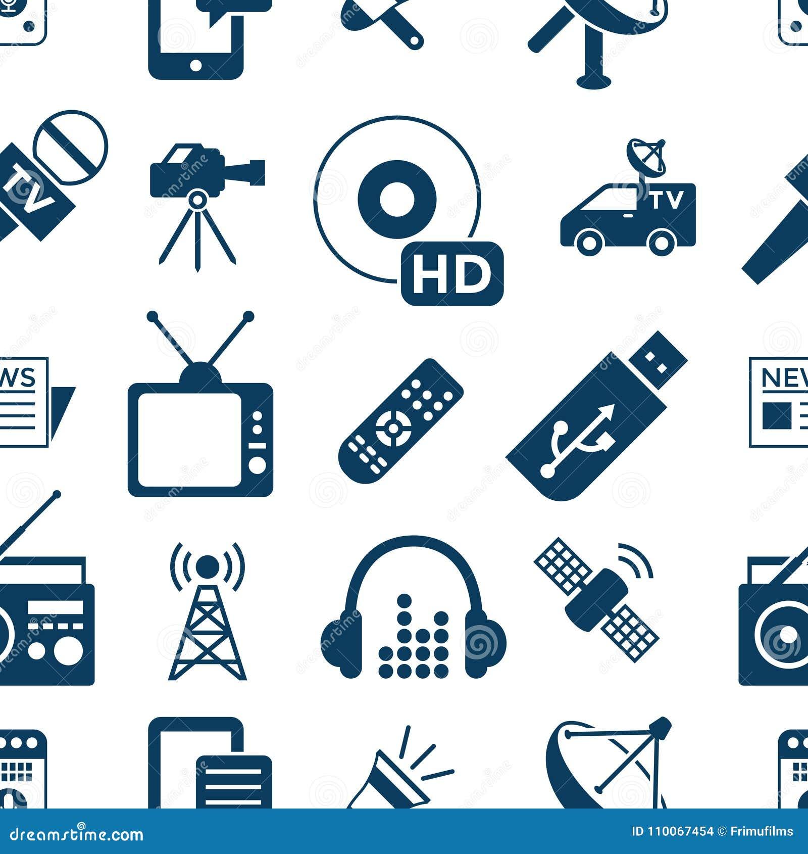 Digital Mass Media Objects Color Simple Flat Stock Illustration