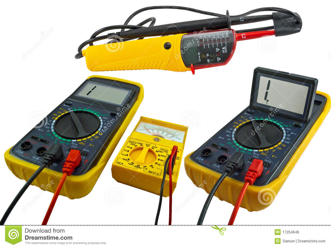 Electronic Measuring Devices : Digital measuring devices royalty free stock image