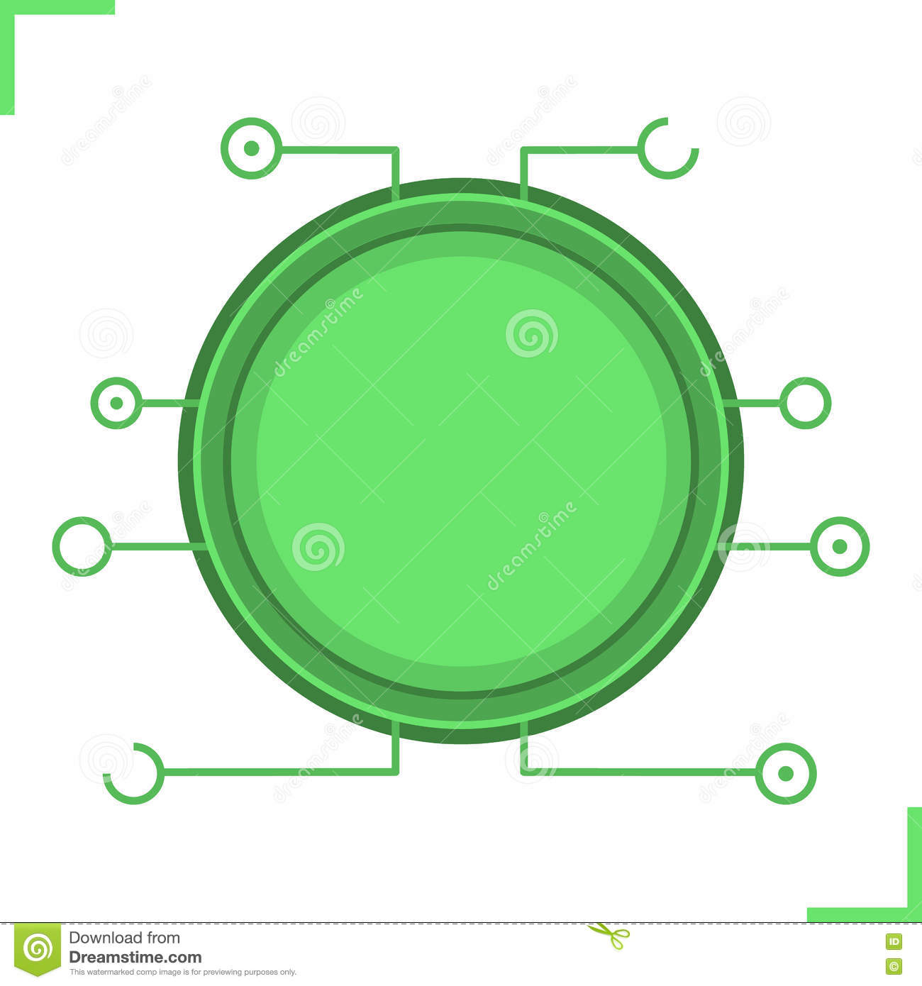 Digital Microchip Frame Stock Vector Illustration Of Computer Graphic Website Internet Circuit Board Text Box Royalty Free