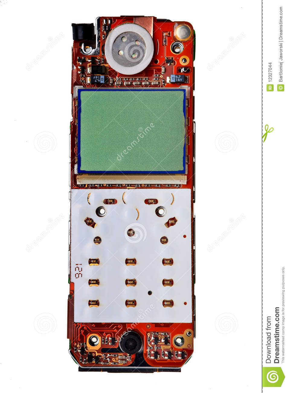 Digital Mobile Phone Pcb Stock Photo Image Of Board 12327044 Cell Boardmobile Circuit Printed With Lcd Display