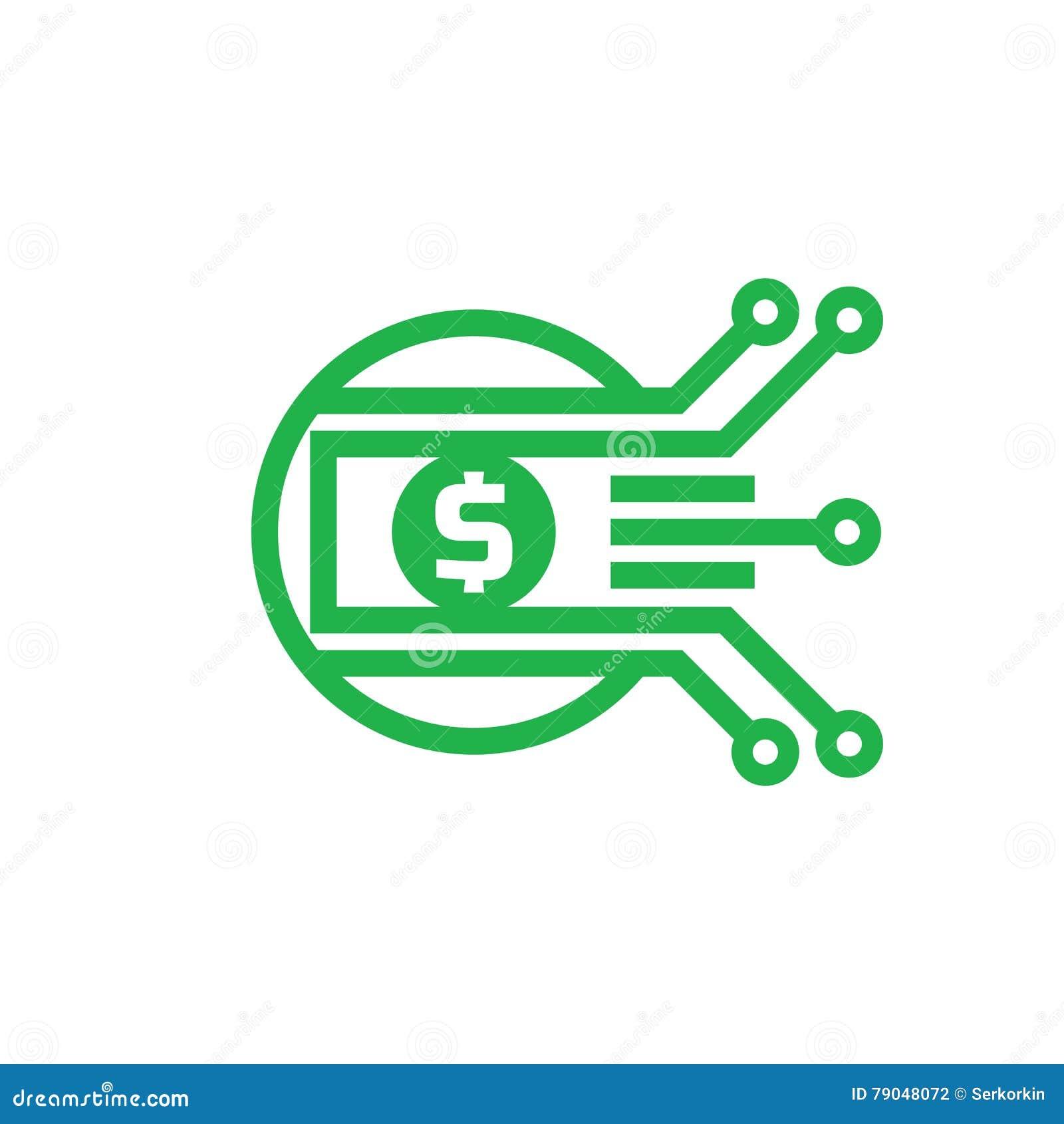 digital money dollar vector logo template illustration currency
