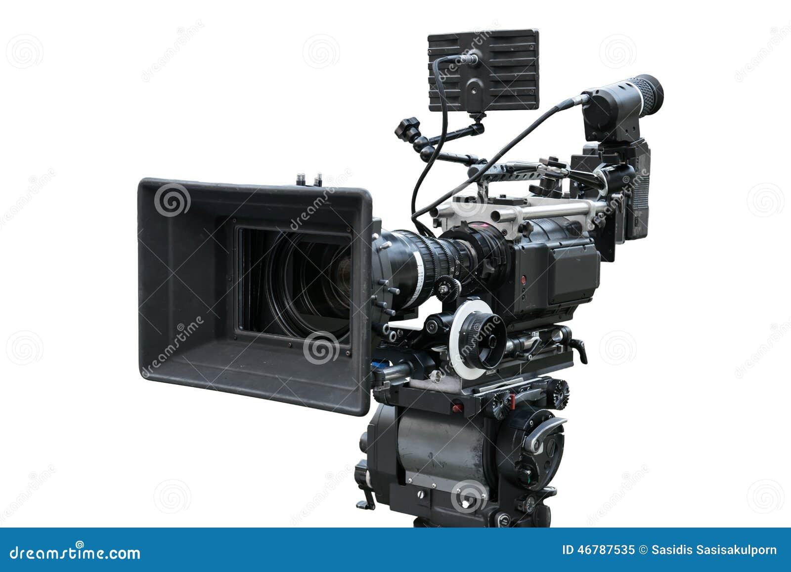 Digital Movie Camera Isolated On White Stock Image - Image ...