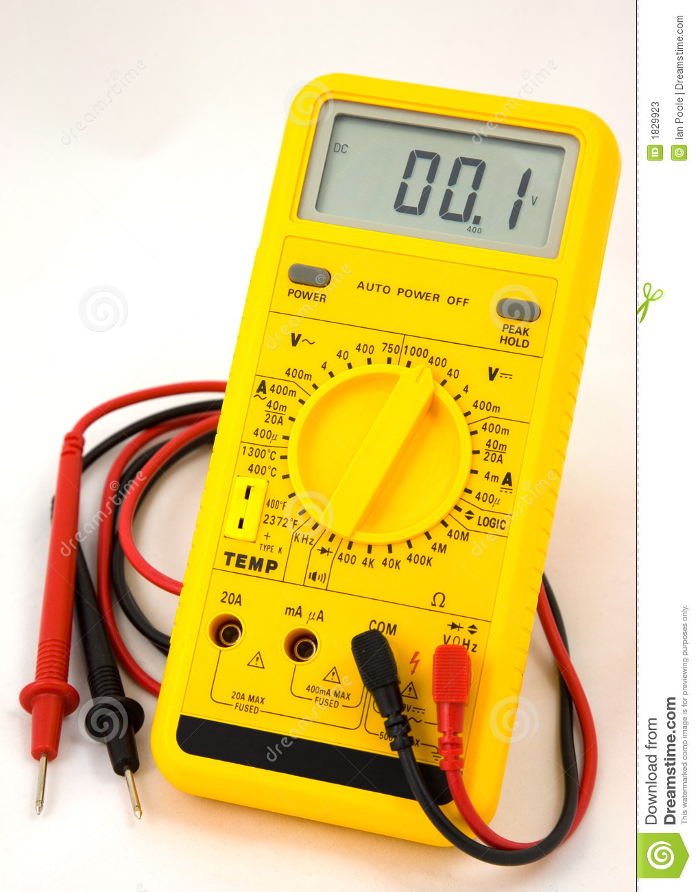 Digital Multimeter Meter Reading : Digital multimeter stock photos image