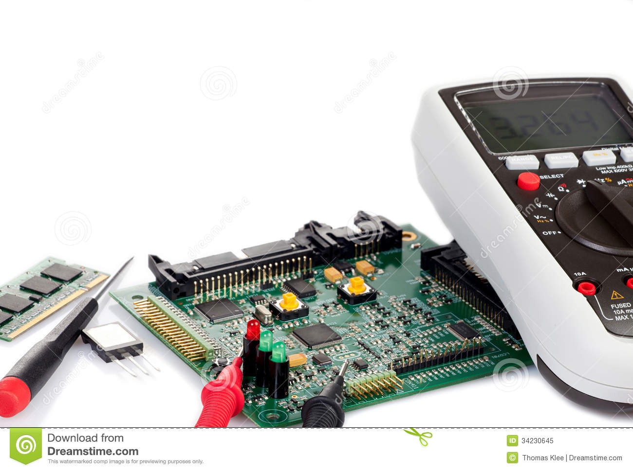 Digital Circuit Board Components Best Electrical Wiring Design Schematics Gerber Data Sandwichpcbwith Multimeter And A Royalty Free Stock Diagram
