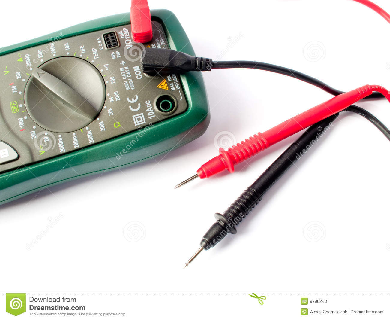 Measuring Electrical Equipments : Digital multimeter electrical measuring equipment stock