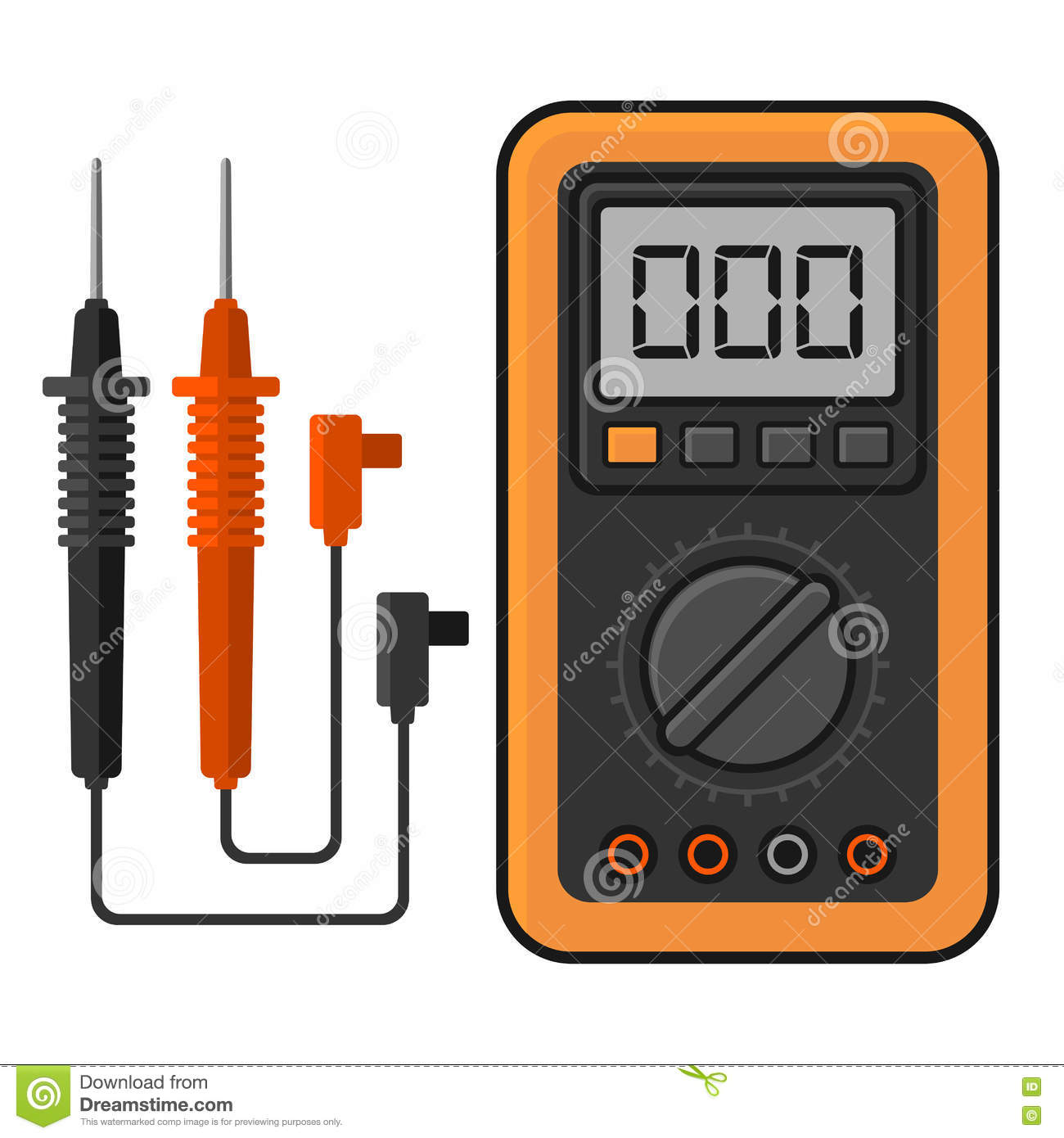 Electrical Measuring Instruments : Ammeter cartoons illustrations vector stock images