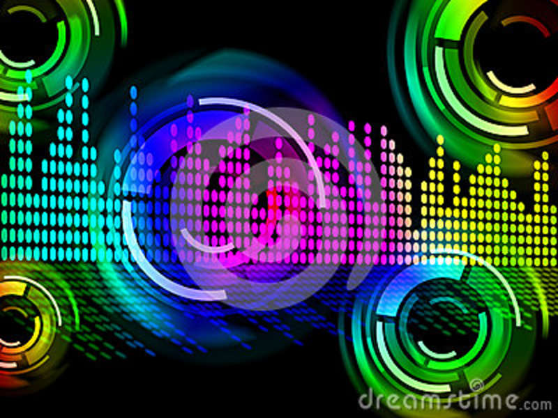 digital music beats background means electronic music or sound f stock illustration