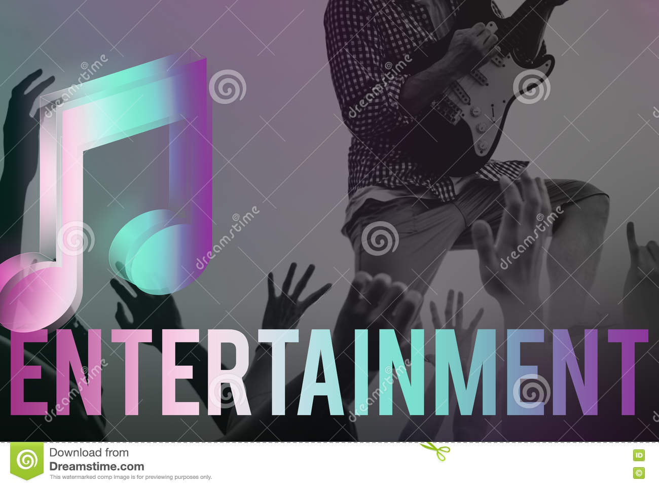 Digital Music Streaming Online Entertainment Media Concept