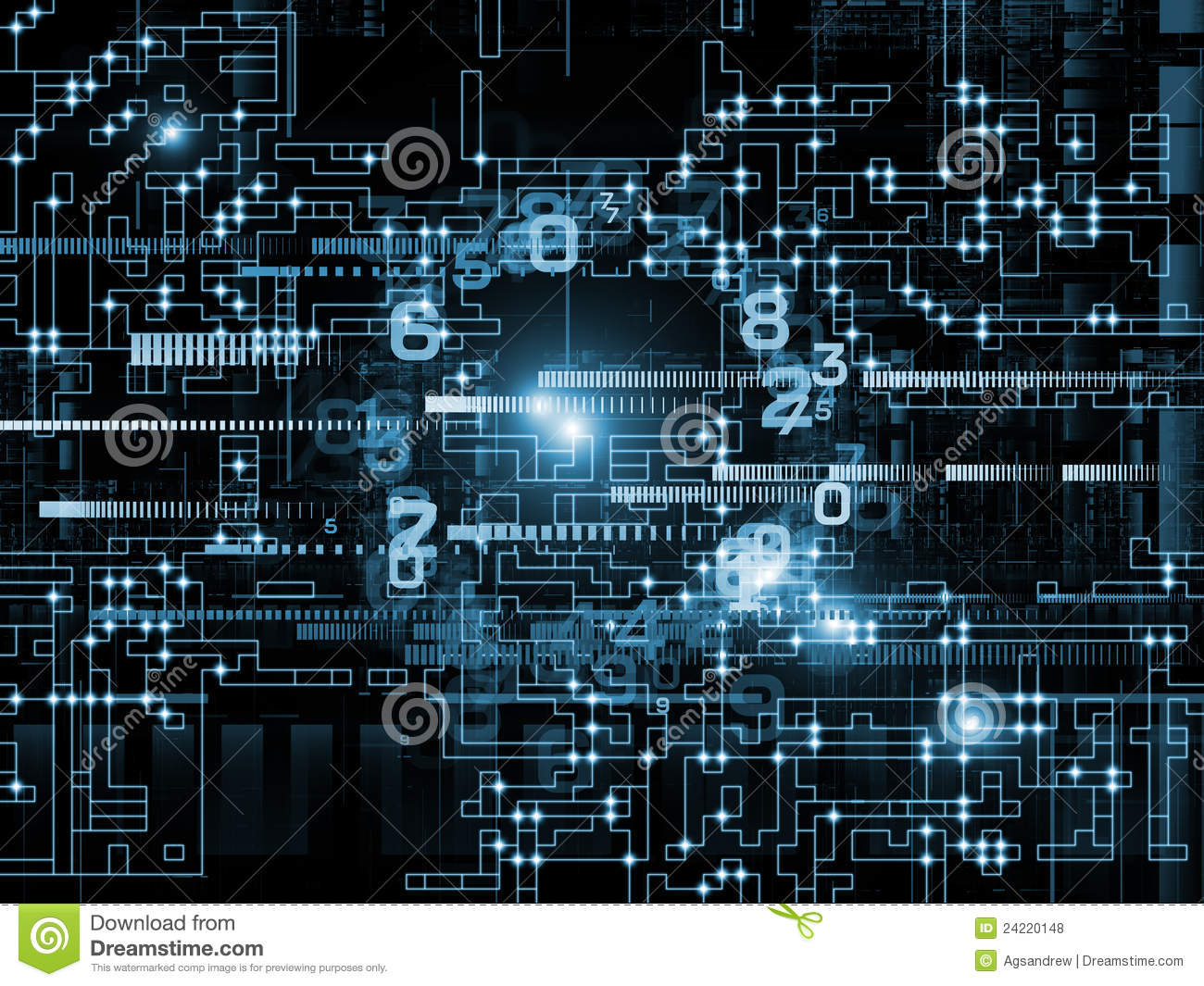 Digital Network Stock Photo  Image Of Technology  Signal