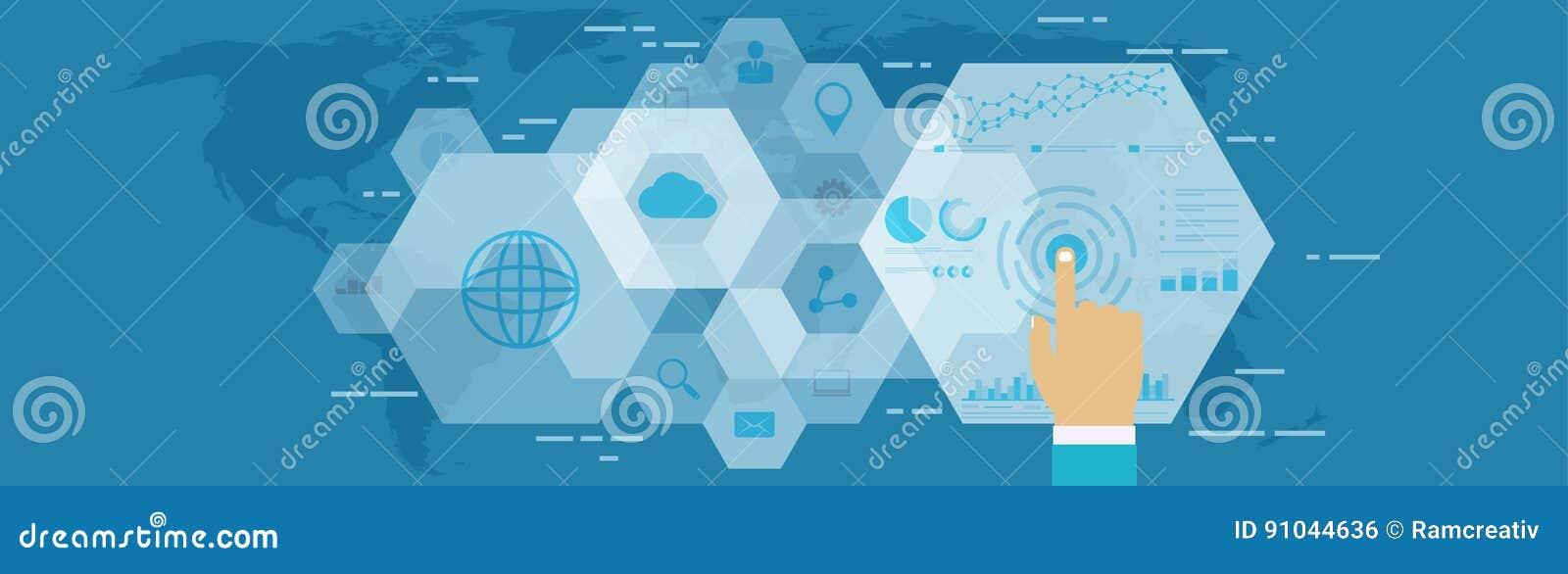 Digital-Netzanalytik Geschäftstechnologie im digitalen Raum