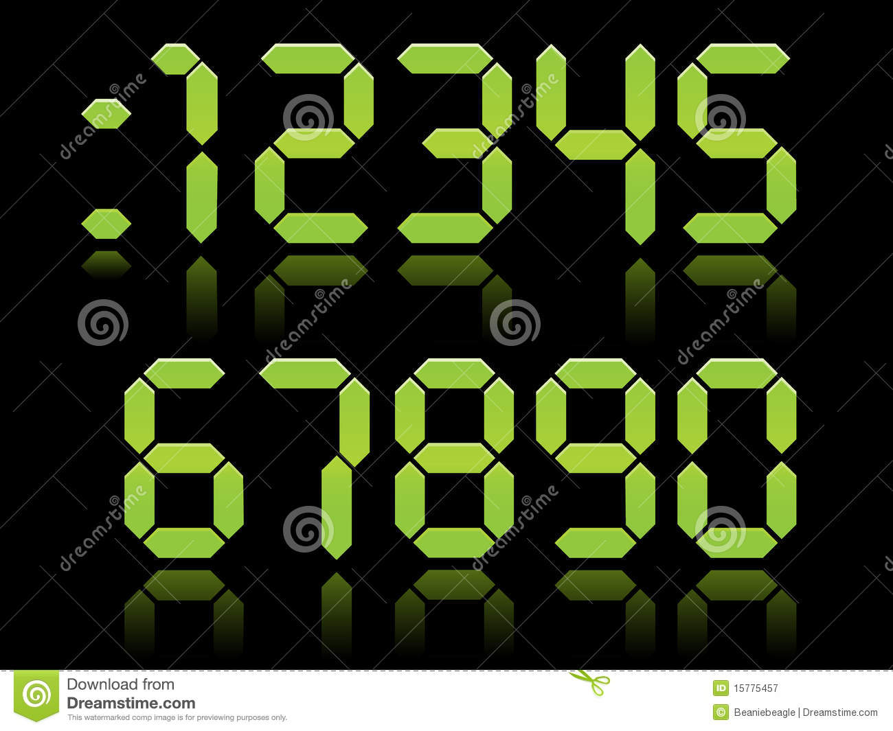 Digital Numbers EPS Royalty Free Stock Photography Image