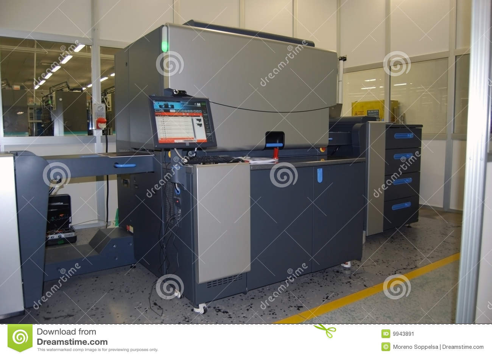 Color press printing - Digital Offset Printing Four Color Press