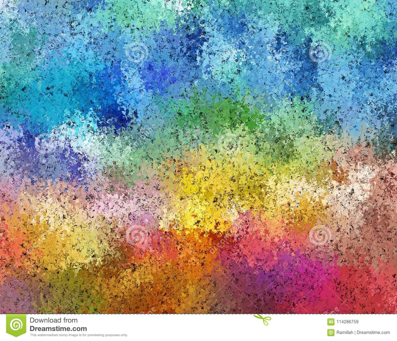 11 Pastel Paint Colors: Digital Painting Abstract Cosmic Fields In Dark Pastel Color Background Stock Illustration