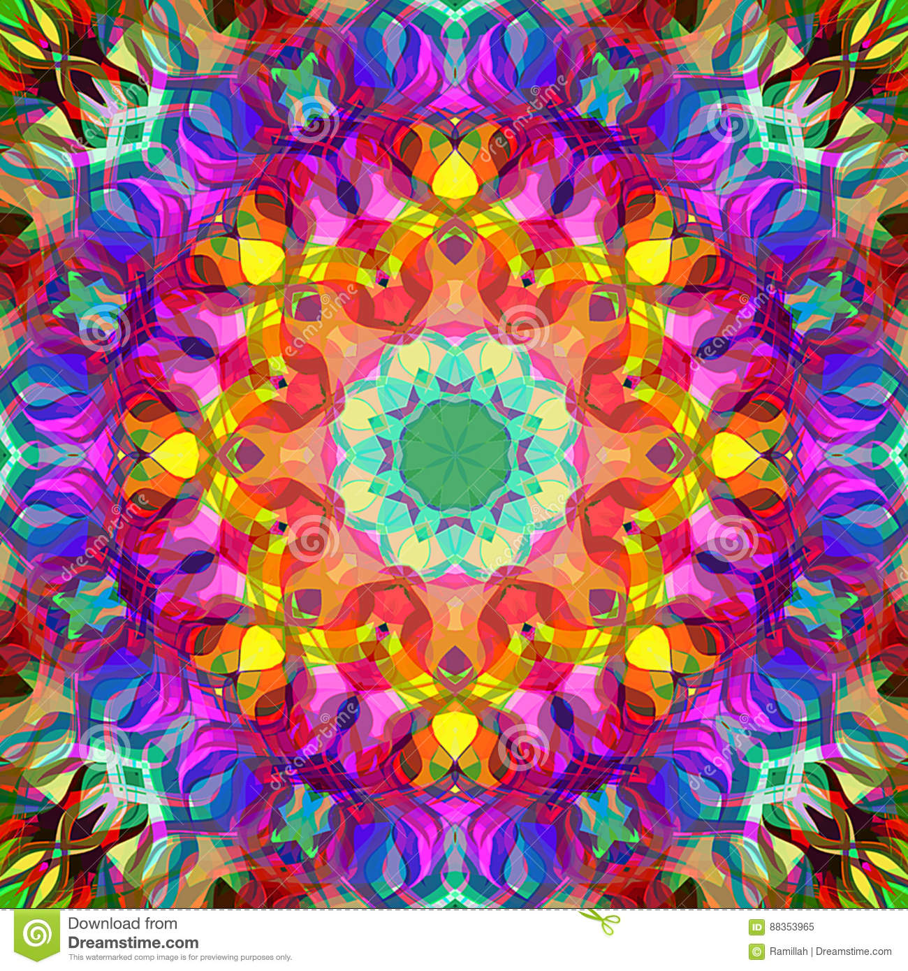 Digital Painting Beautiful Abstract Colorful Floral