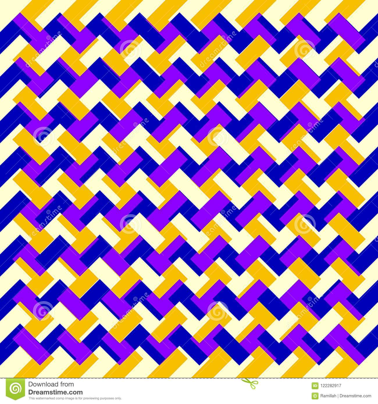 Digital Painting Beautiful Abstract Colorful Wavy Triangular Zigzag Texture Layer Pattern Background