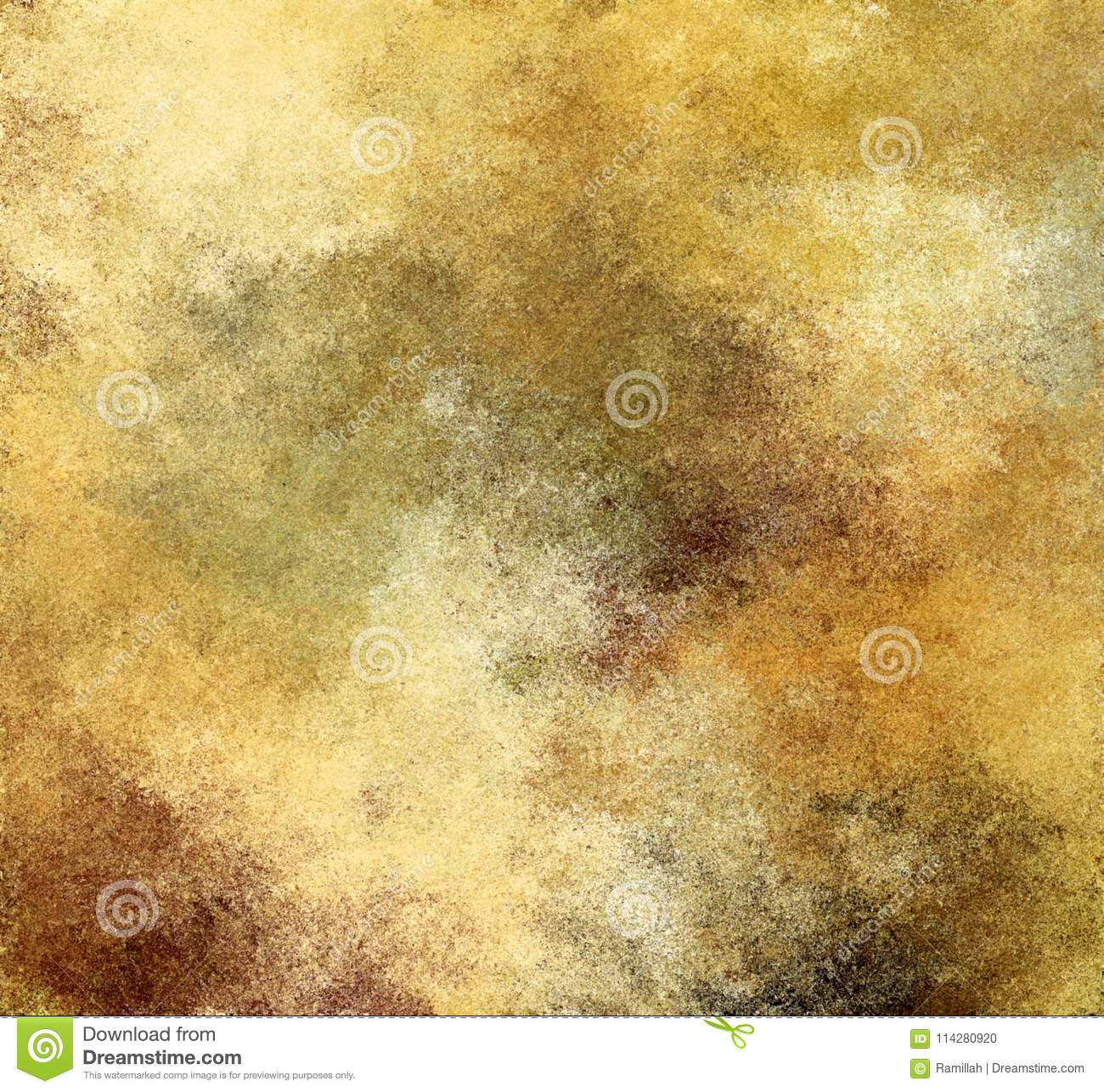 Digital Painting Abstract Old Rustic Yellow Paper Background