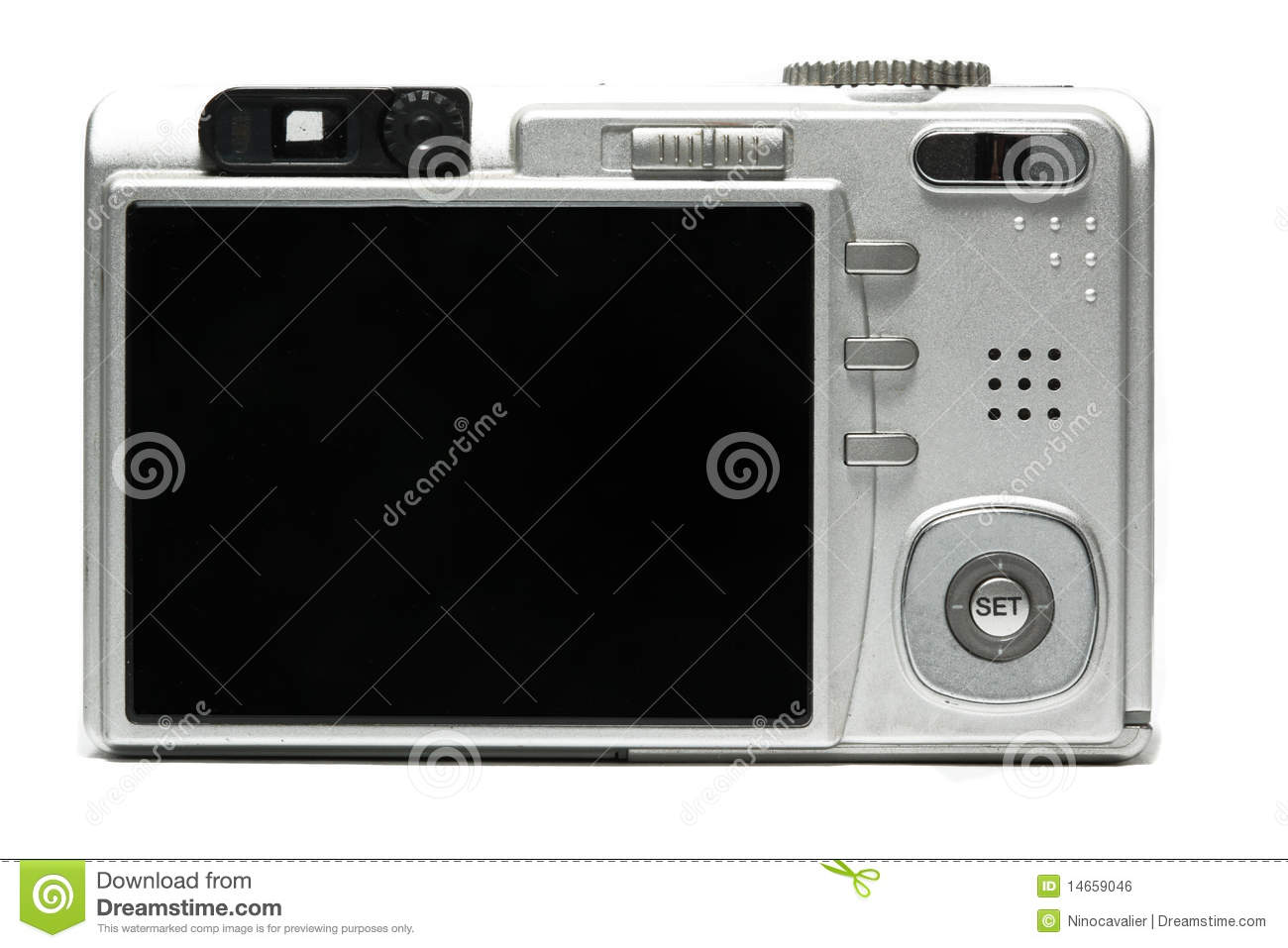 Digital photography camera from behind