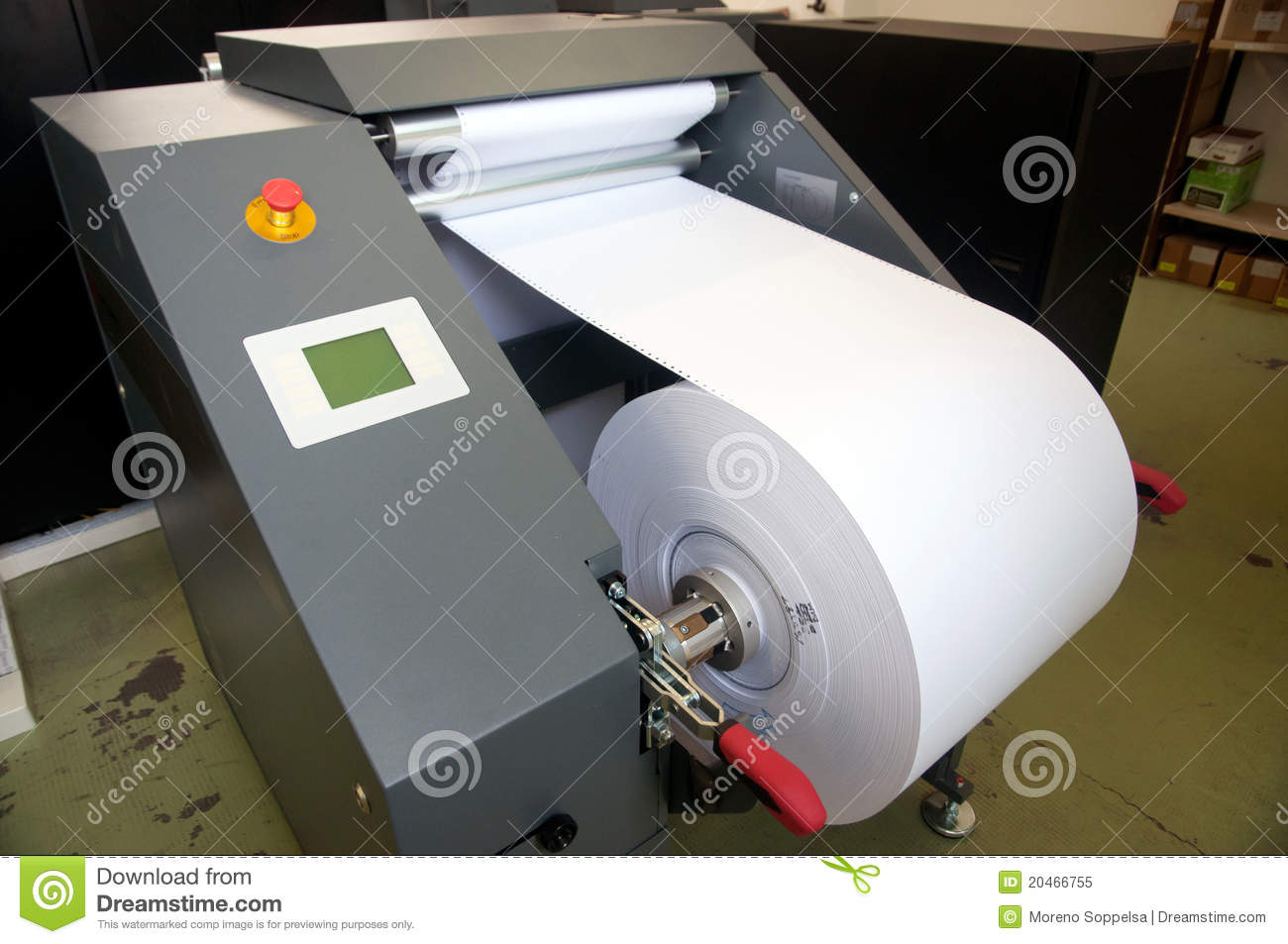 Digital press printing machine (detail)