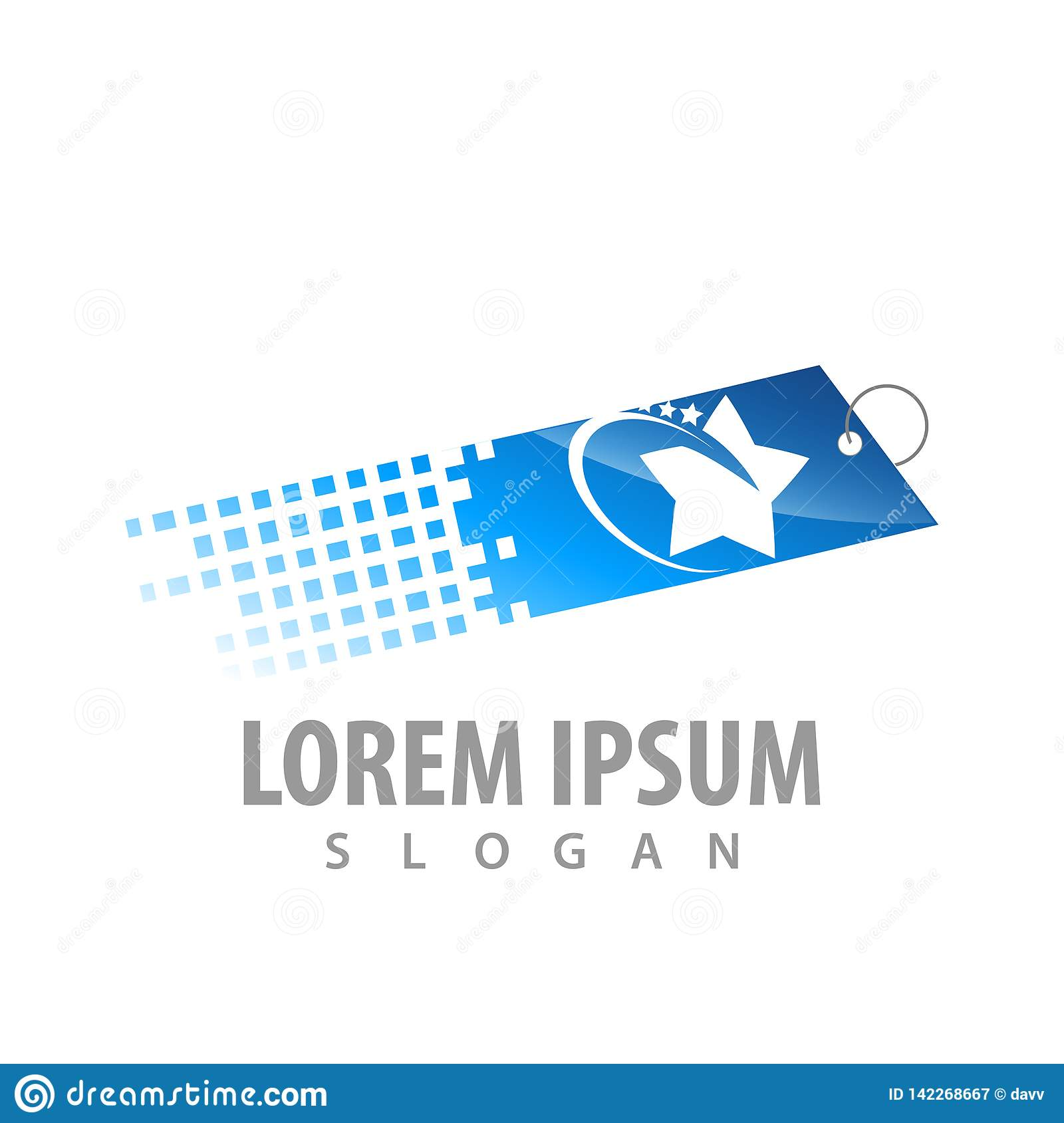 Digital price tag label with star concept design. Symbol graphic template element vector